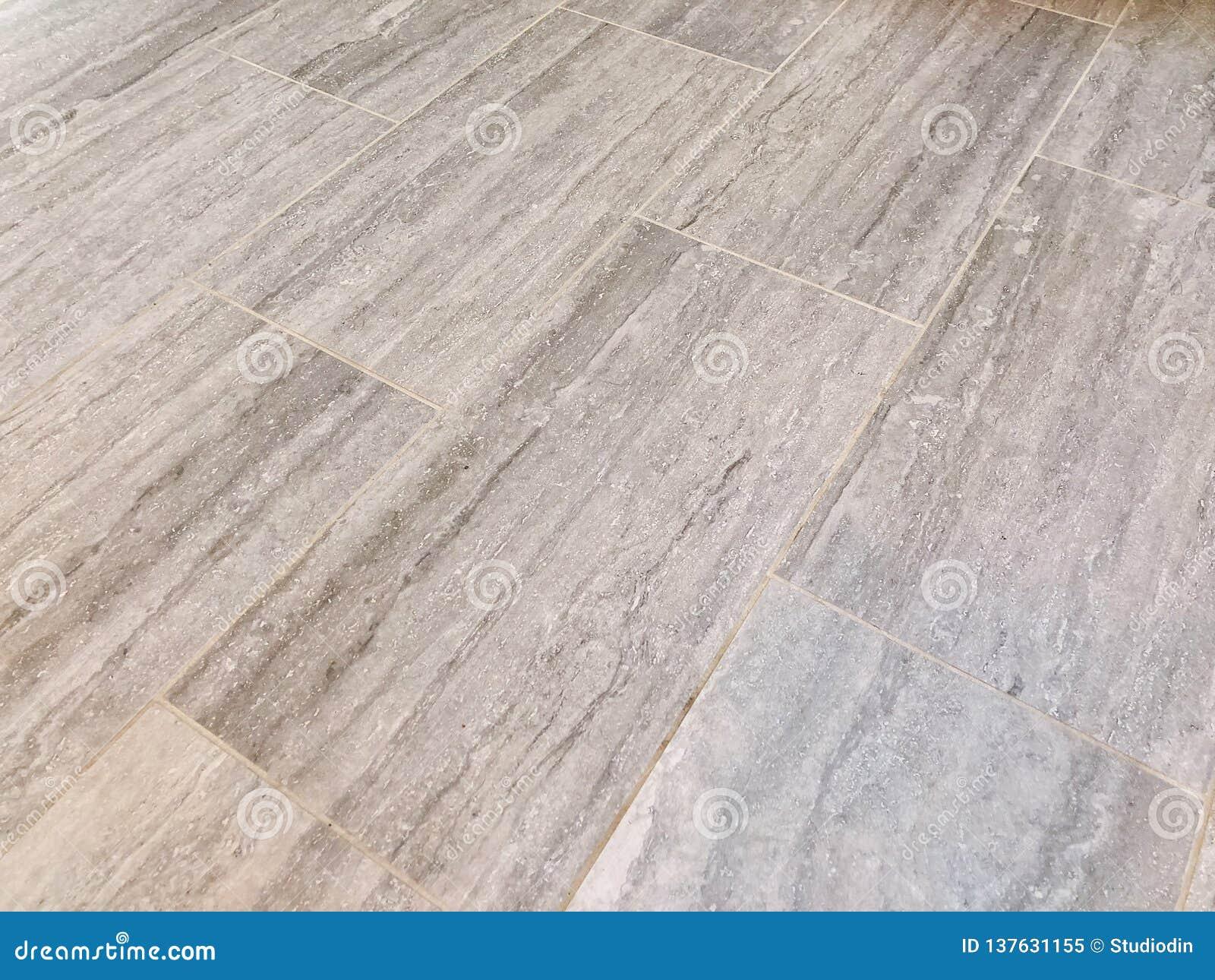 Tile floor newly installed in my bathroom