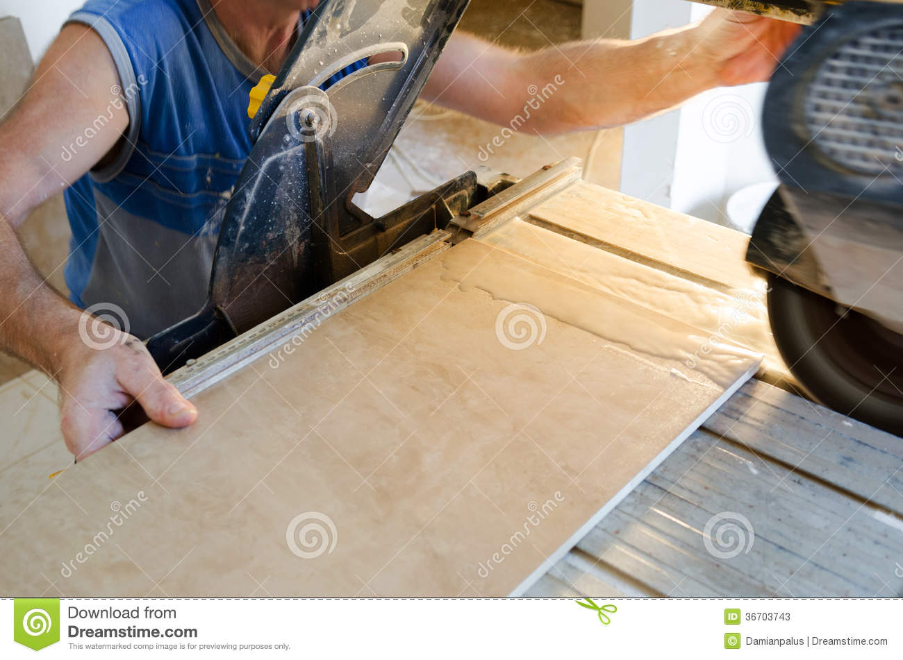 Tile Floor Stock Image Image Of Occupation Skill Cutting 36703743