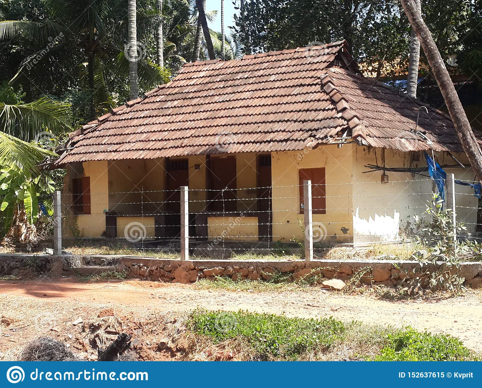 Tile House You Can See In Villages Stock Image Image Of