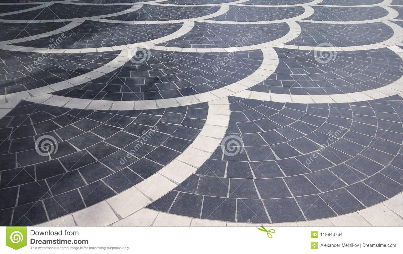 Tile lined in the park