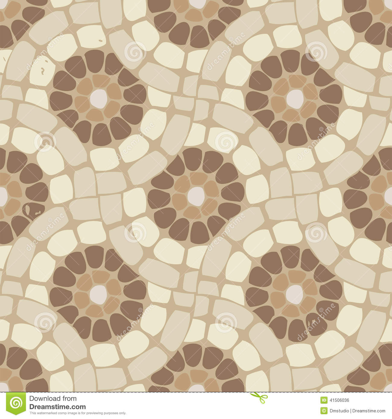 Vector Tile Mosaic Floor Stone Background Stock