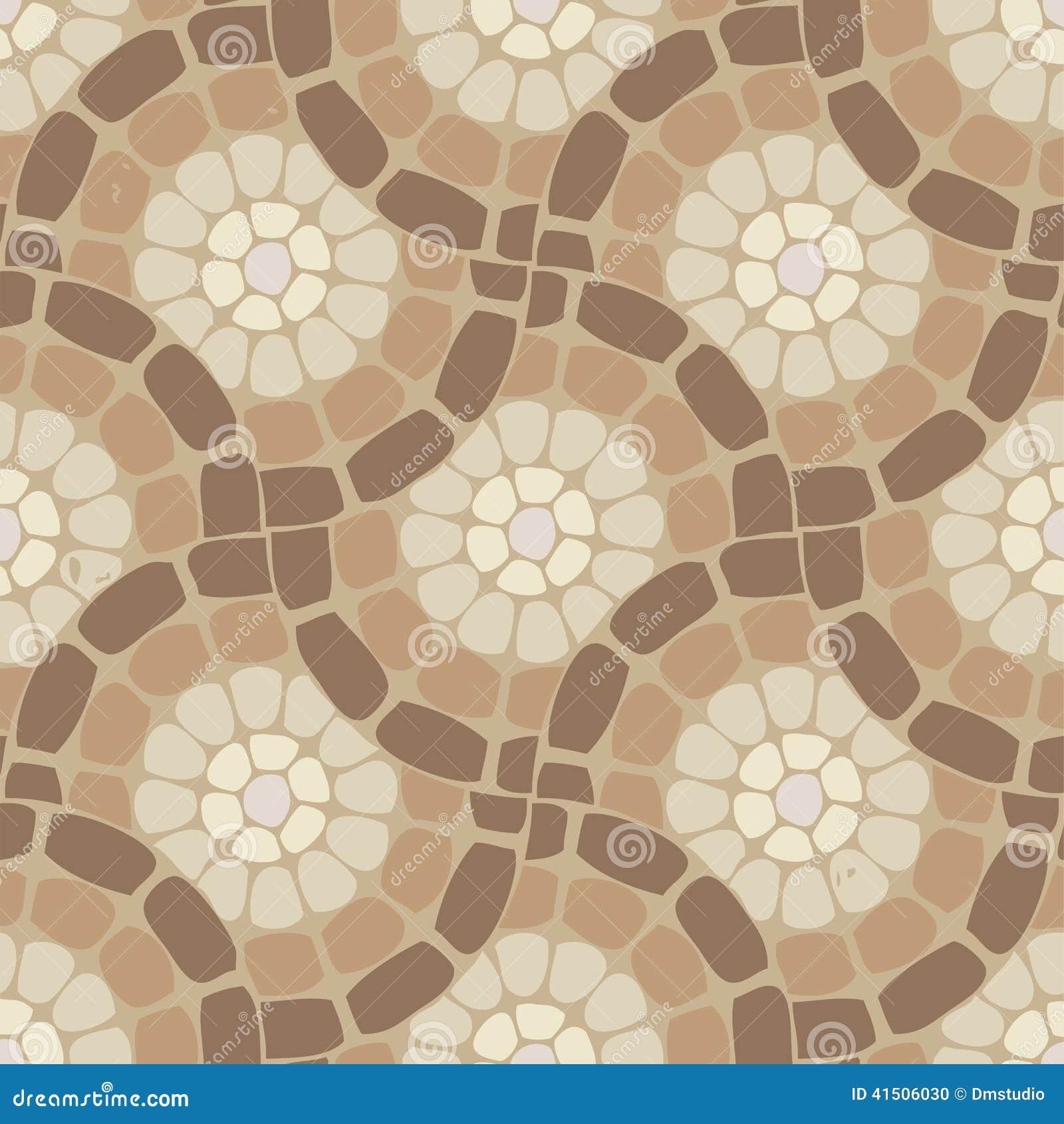 Vector Tile Mosaic Floor Stone Pattern Stock