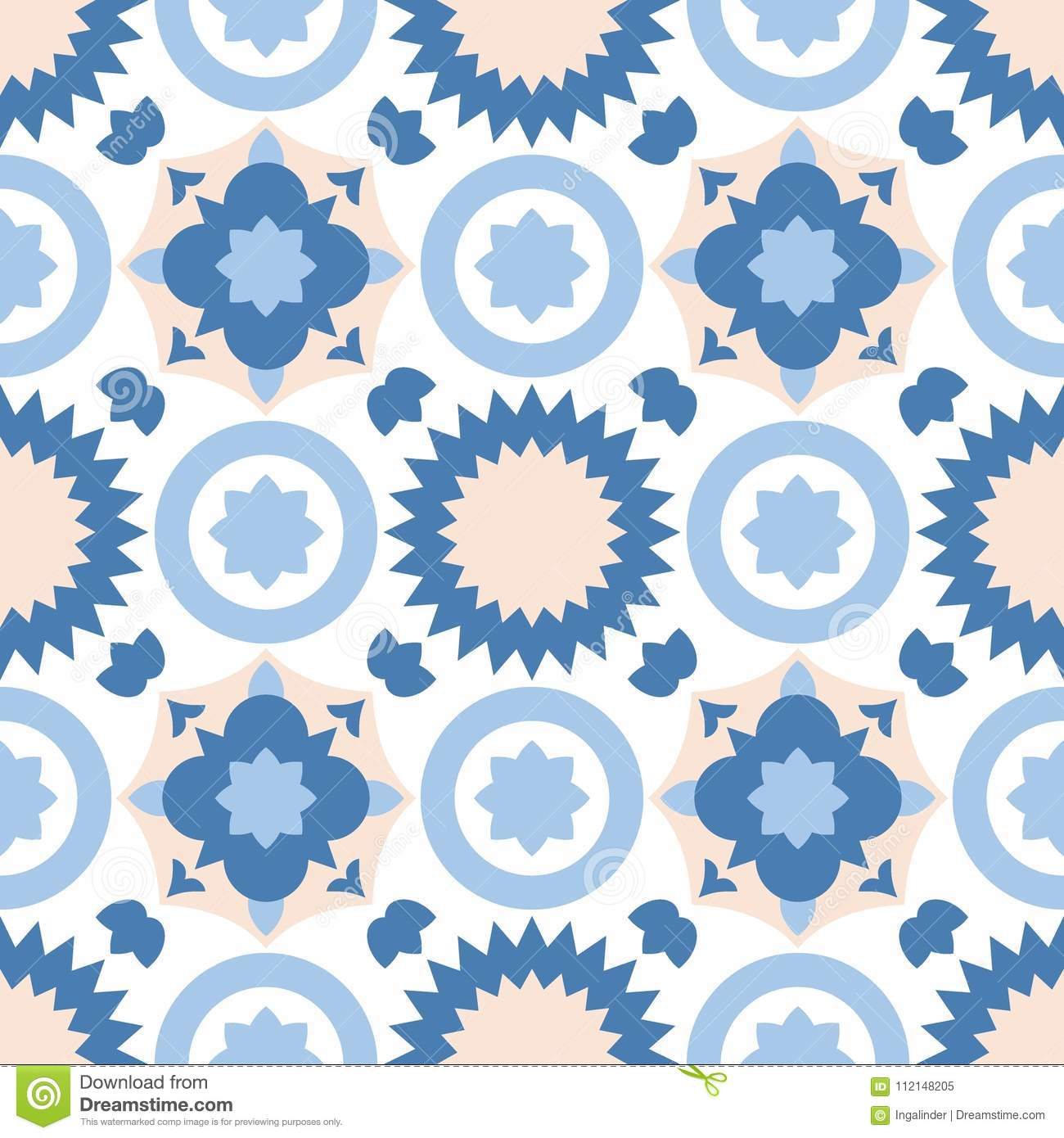 Tile Pastel Decorative Floor Tiles Vector Pattern Or Seamless ...