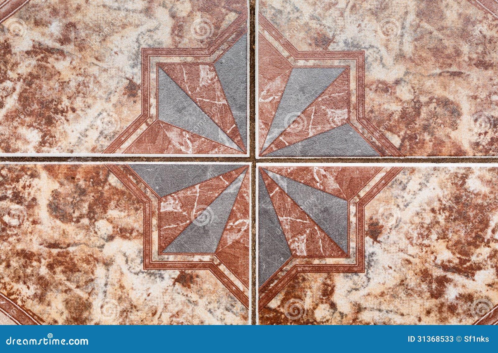 Tile Pattern Of Ancient Ceramic Tiles. Stock Image - Image of mosaic ...