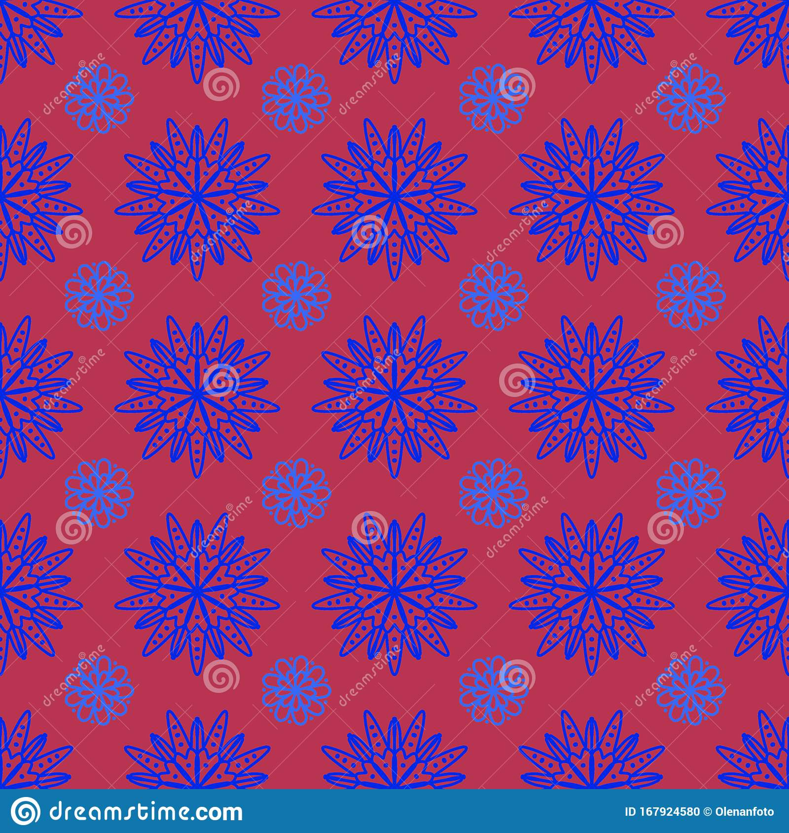 Tile Pattern Seamless With Floral Ornaments Flower Texture For