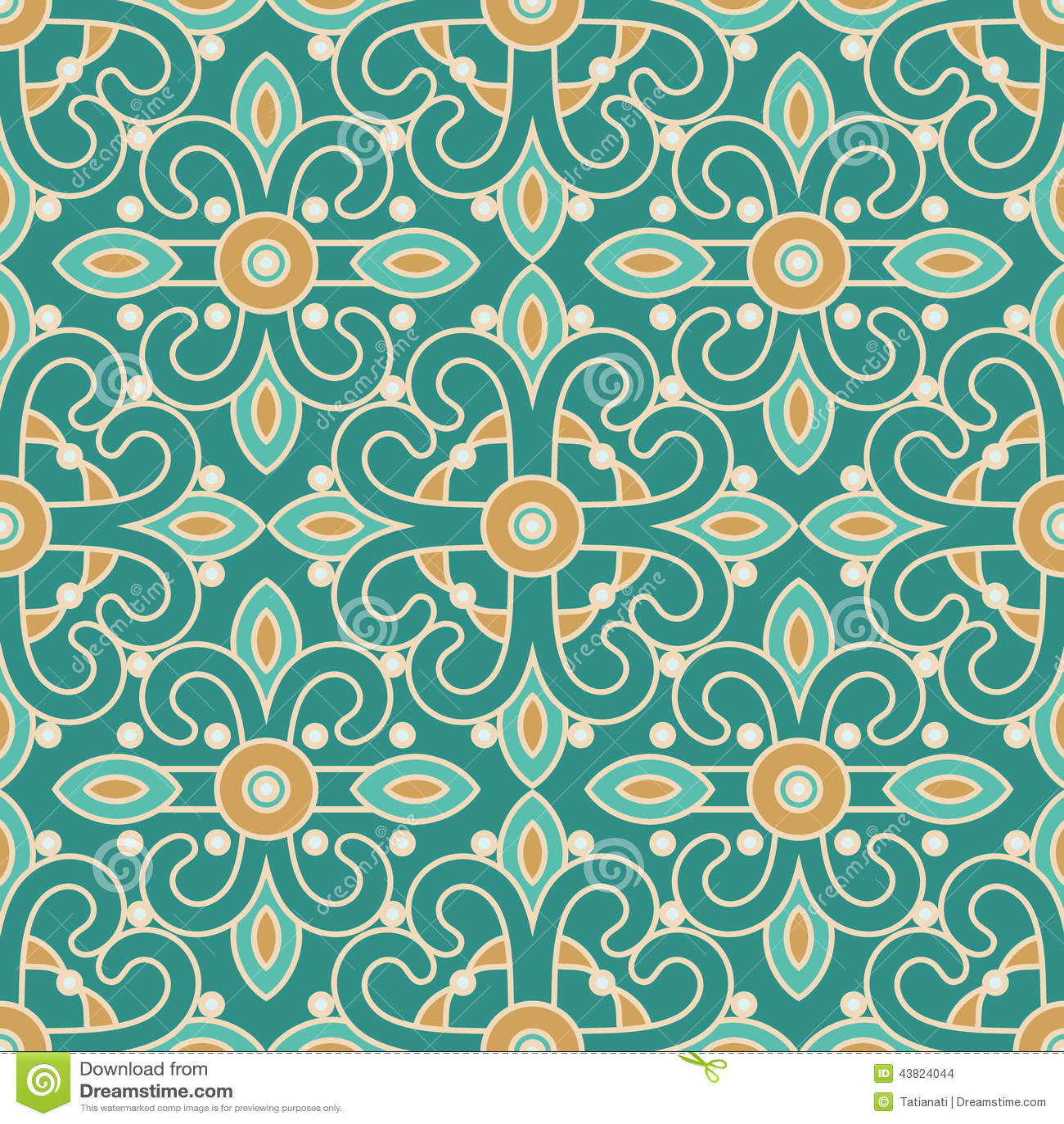 Tile Pattern Stock Vector - Image: 43824044