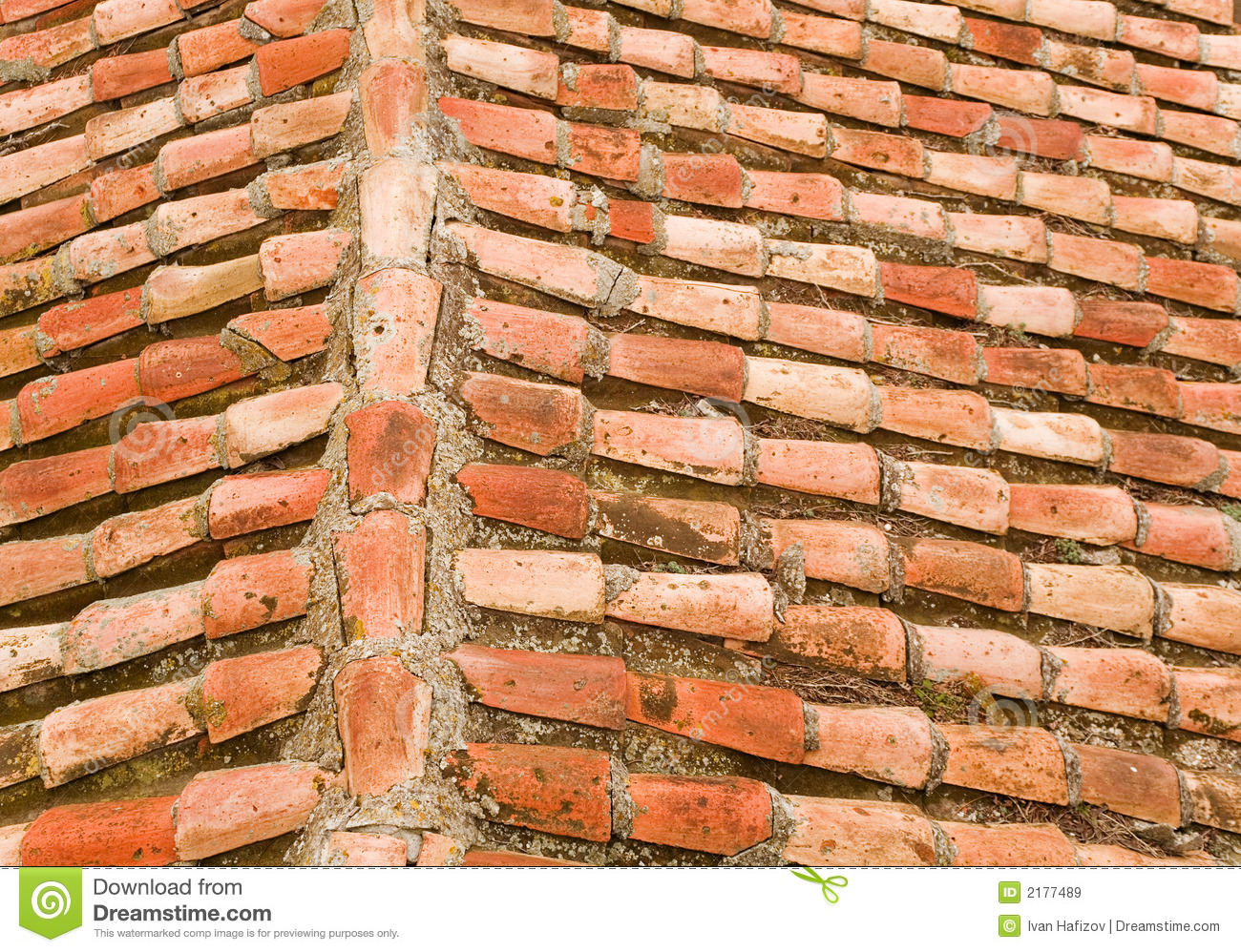 Tile roof stock image  Image of colorful, construction - 2177489