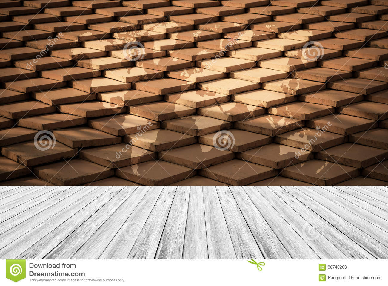 Ancient tile roof thailand style texture stock image for Terrace tiles texture