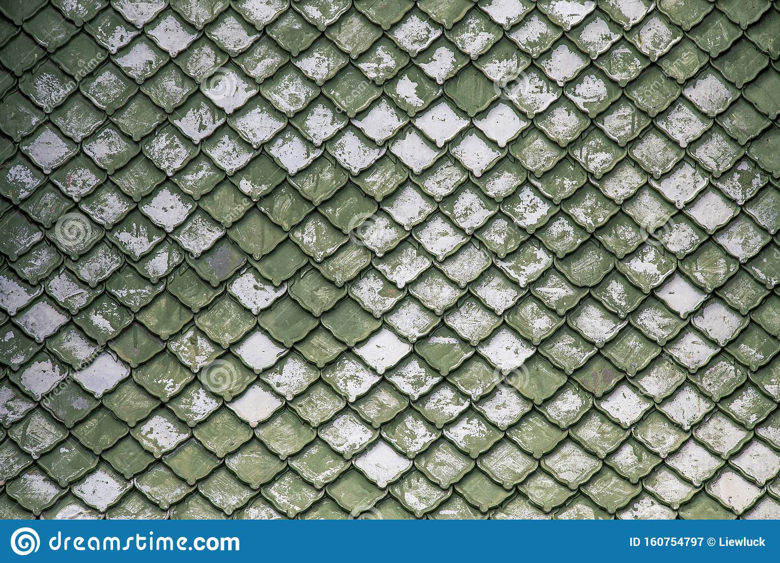 Tile Roof Thai Old Style Design Stock Image Image Of Pattern Background 160754797