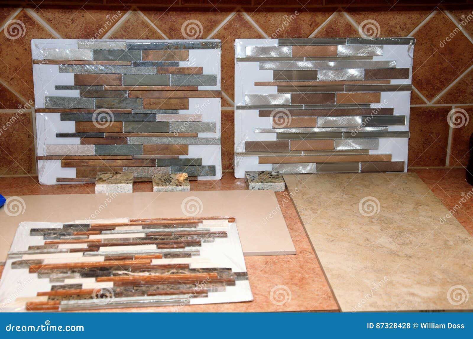 Kitchen Tile Samples tile samples stock photo - image: 87328428