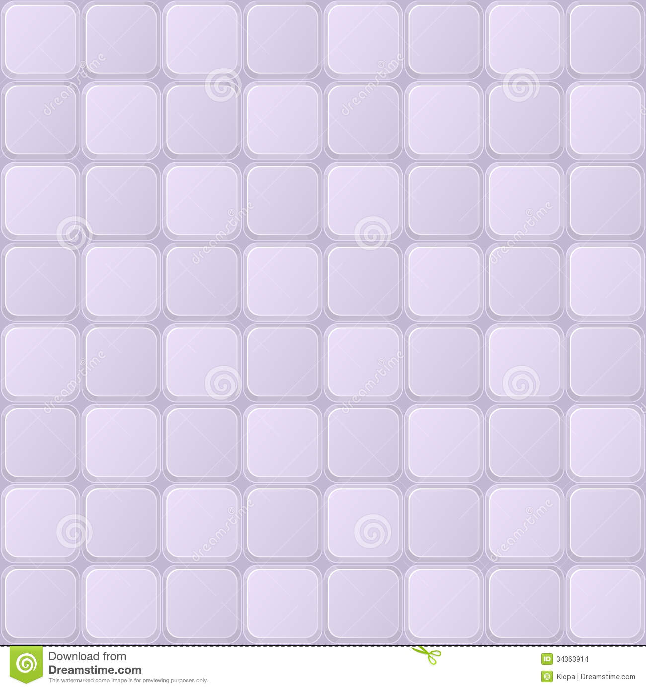 Tile Seamless Pattern With Shiny Square Elements Stock
