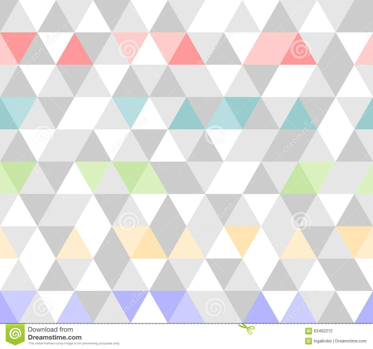 Tile Triangle Vector Pattern Background Stock Vector