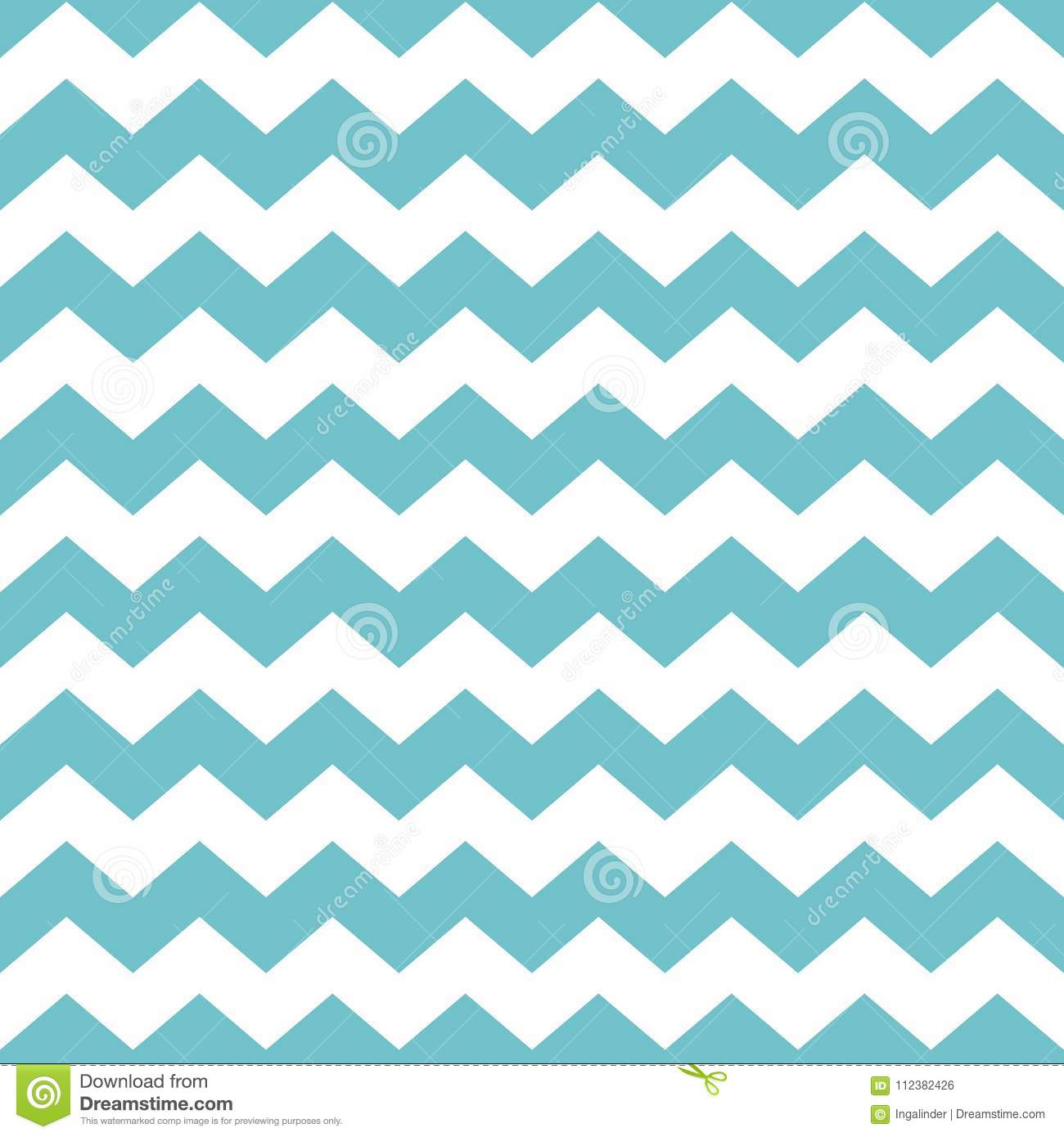 Tile Vector Pattern With Green Zig Zag Print On White Background ...