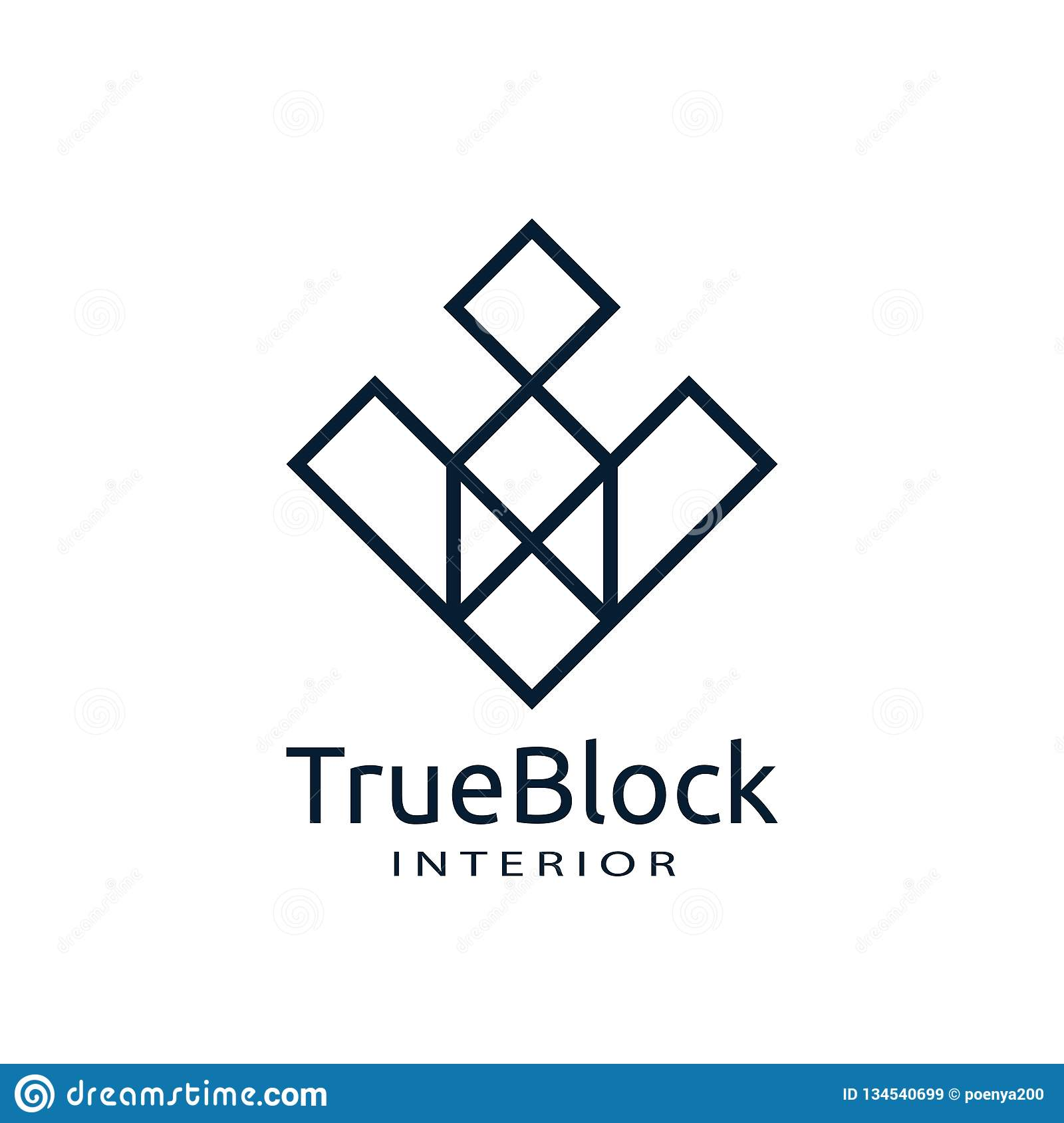 tile wall logo icon for carpet, floor, ceramic industry. hexagon square abstract symbol. minimal sign concept design template