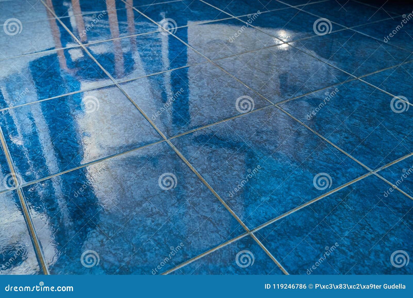 Tiled bathroom floor stock photo. Image of floor, light - 119246786