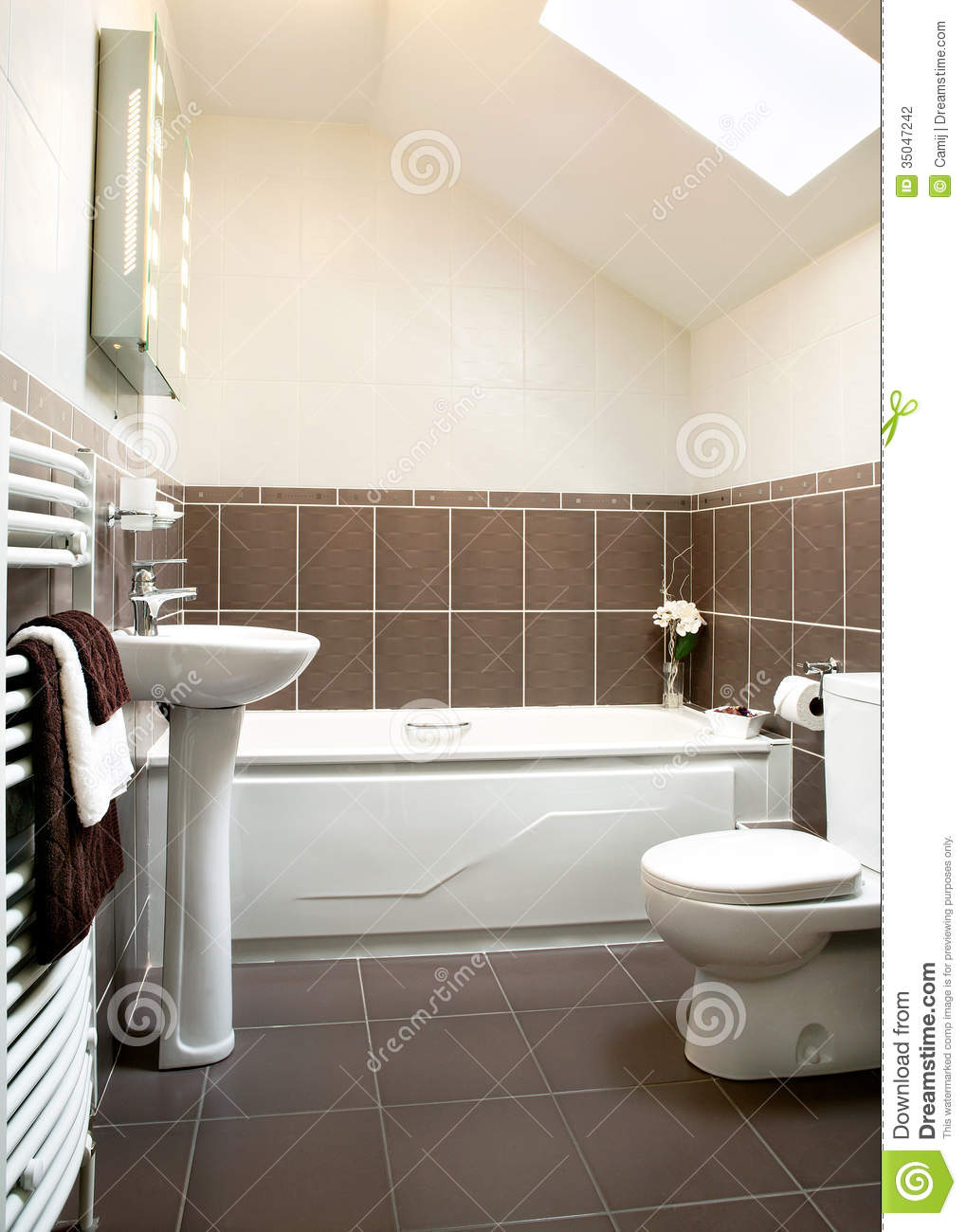 Tiled Bathroom Stock Photography Image 35047242