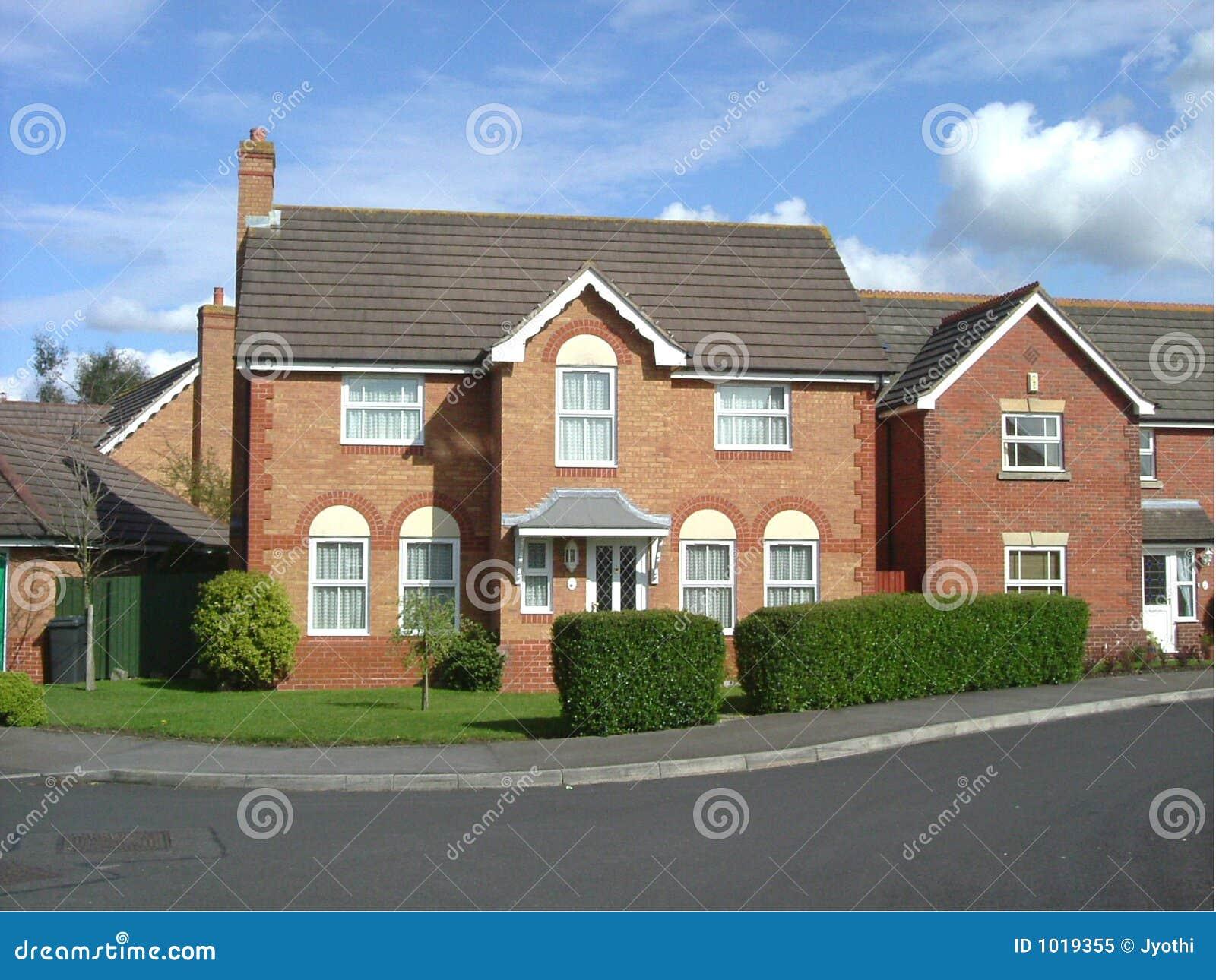 Single Story Home Plans Tiled British House Royalty Free Stock Photo Image 1019355