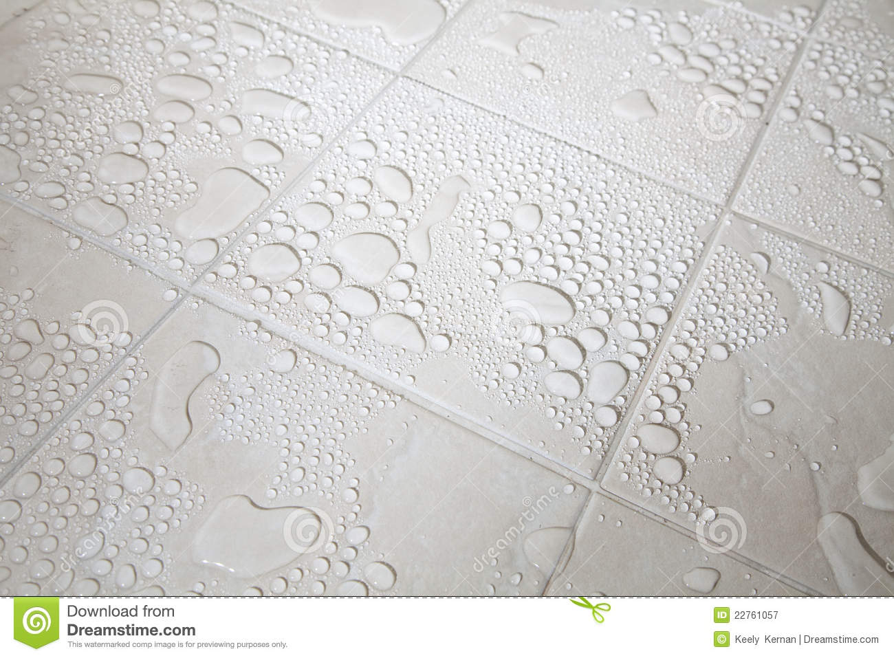 Tiled floor and water droplets stock image image of for On the floor