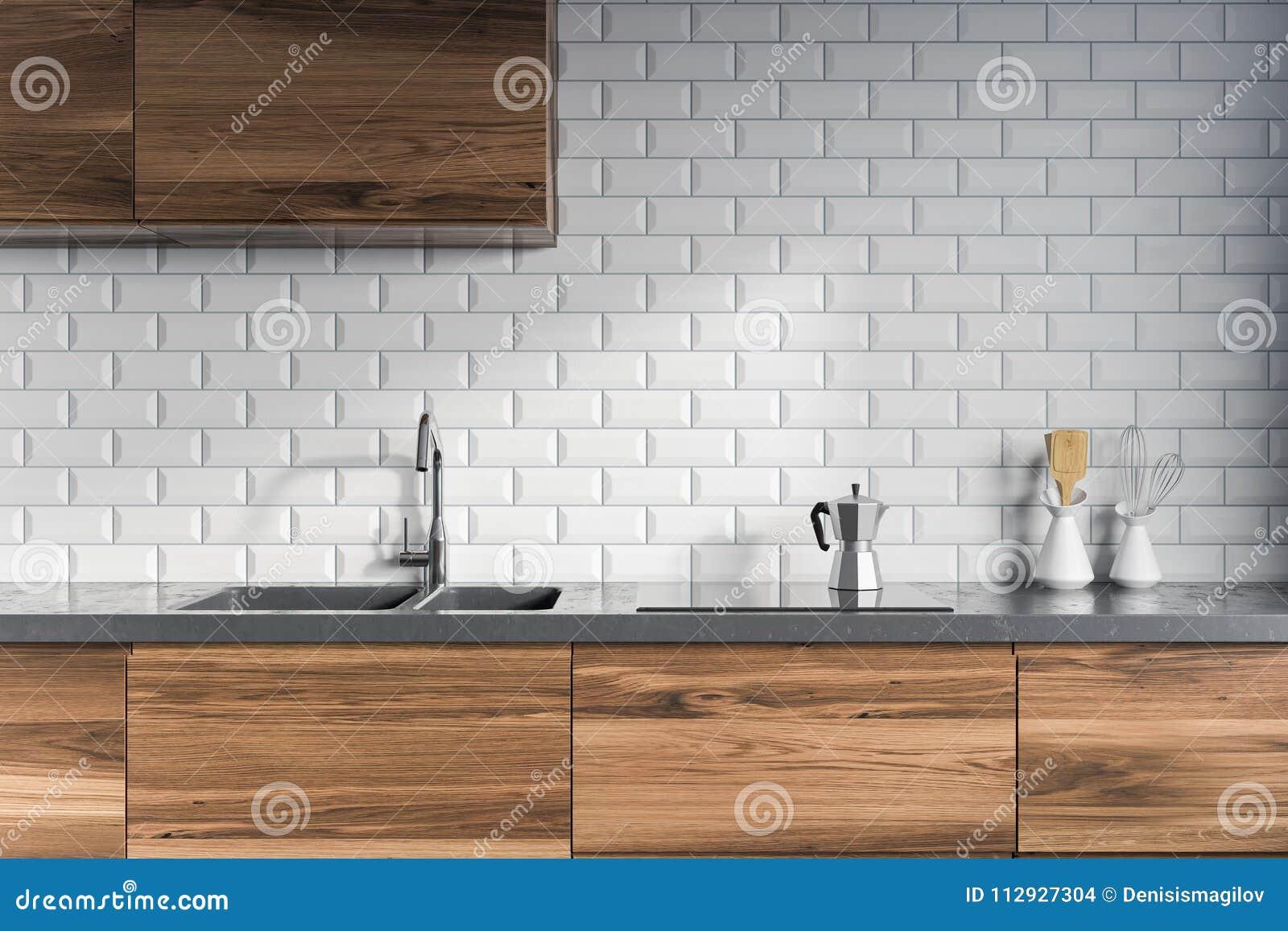 Tiled Kitchen Interior Dark Wooden Counters Stock Illustration Illustration Of Contemporary Decoration 112927304,Child Bedroom Furniture