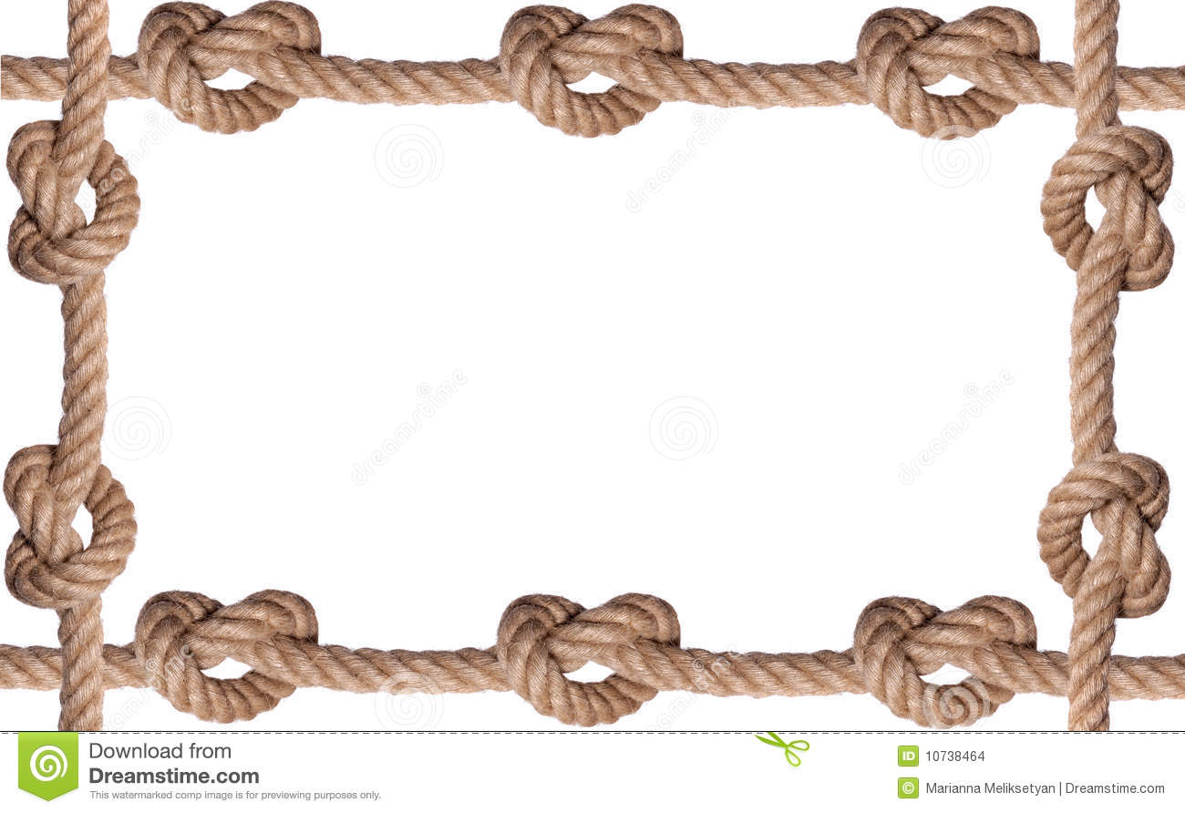 Tiled knot rope frame stock photo image of flexibility Rope photo frame