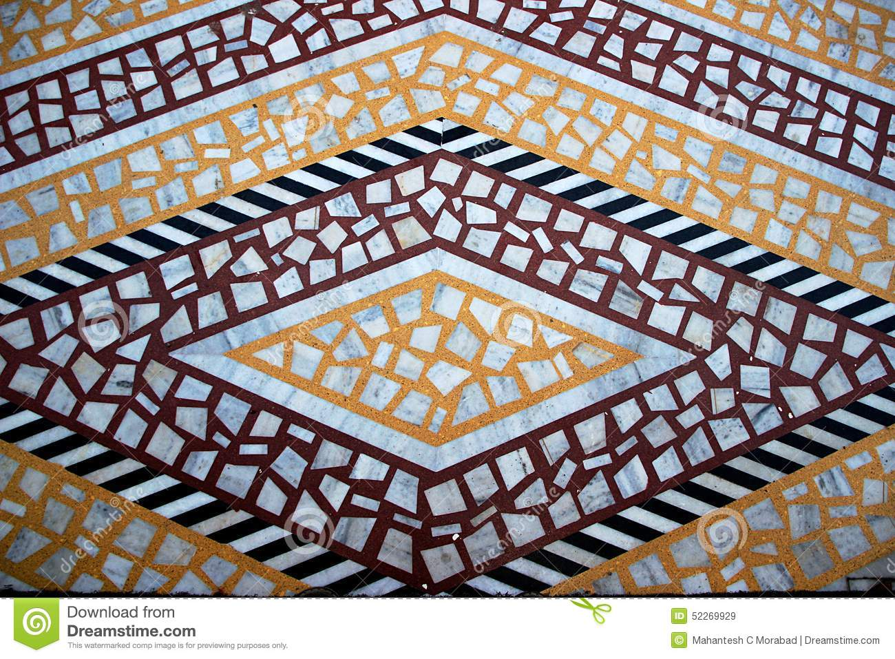 Orange Marble Tile : Tiled marble floor pattern stock photo image