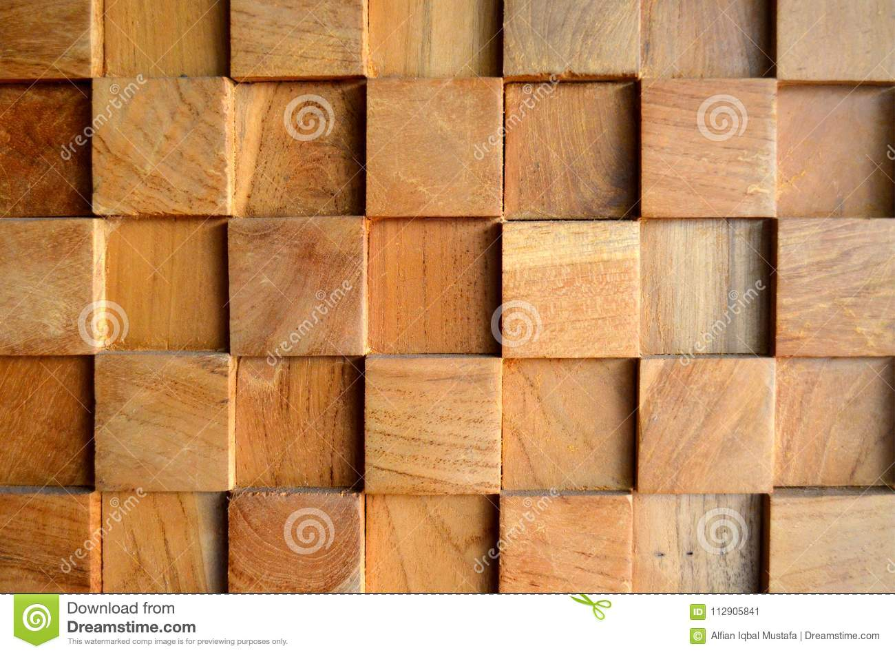 Tiled Old Teak Wood Texture Wall Background For Design And