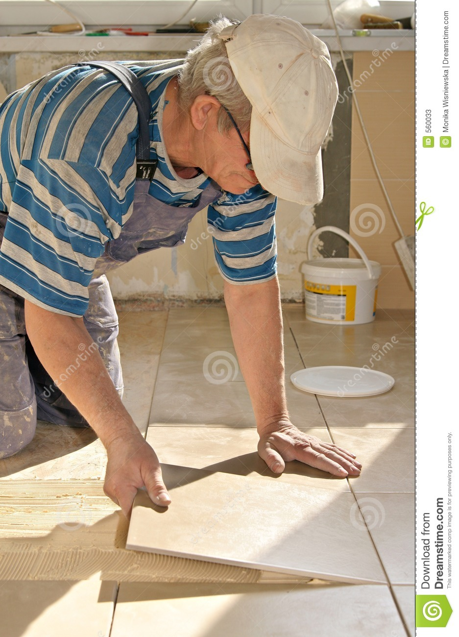 Tiler Tile Floor Stock Image Image Of Males Substrate 560033