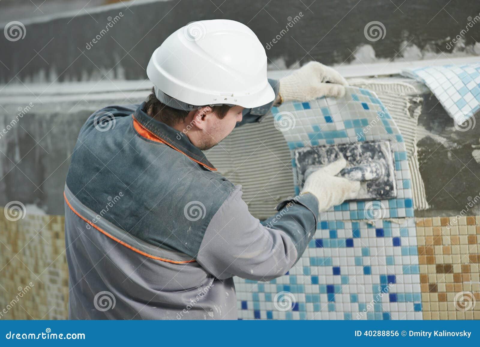 Tilers на промышленной реновации tiling пола