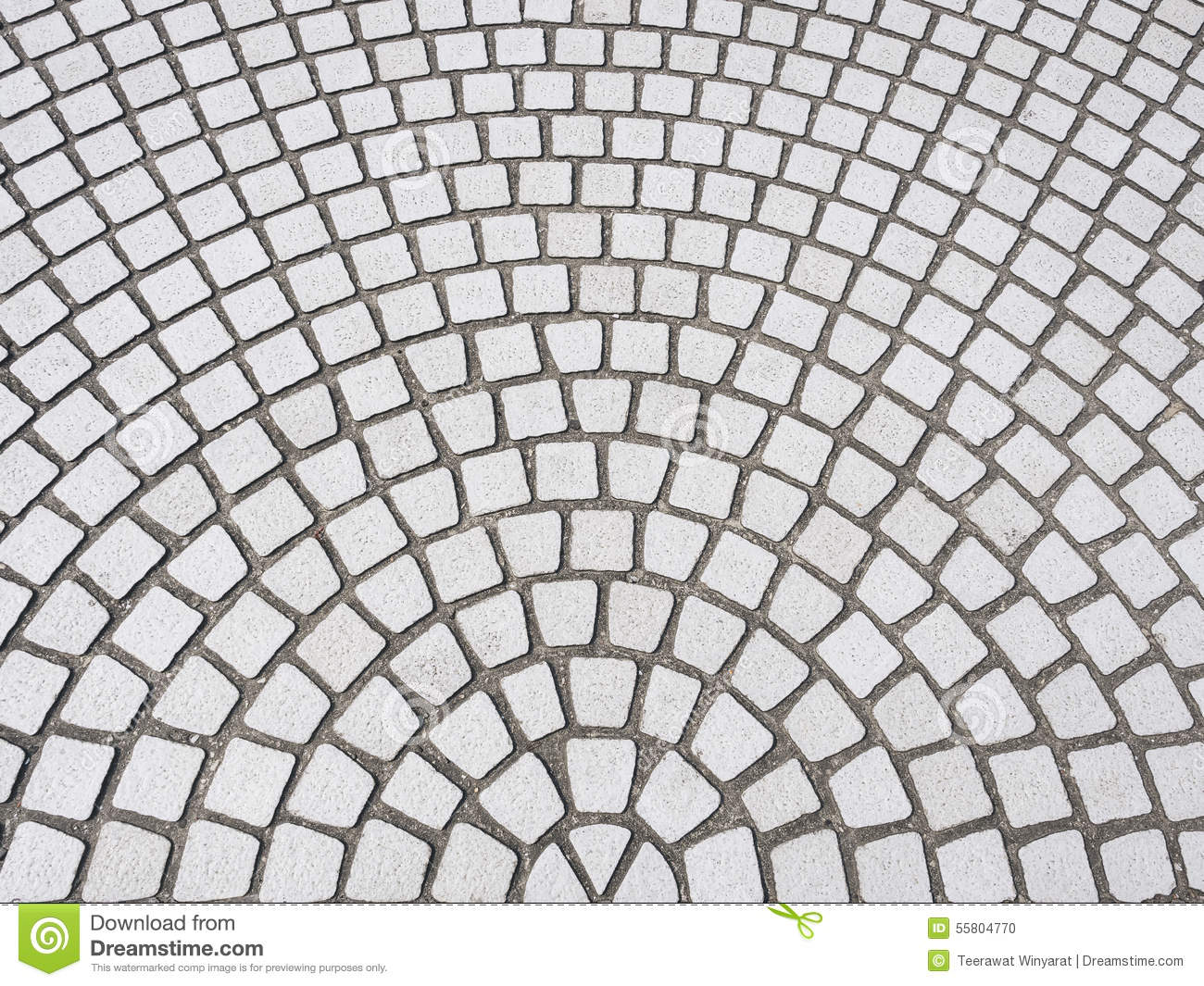 Tiles Floor With Radial Pattern Art Abstract Background