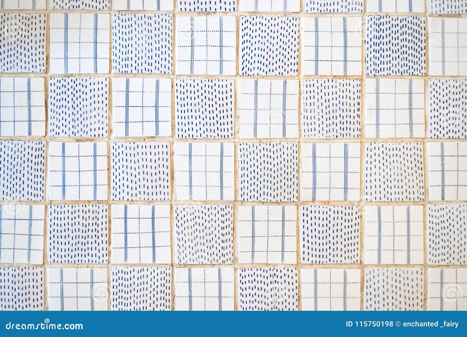 Tiles Floor Top View Pattern Of Beautiful Ceramic I
