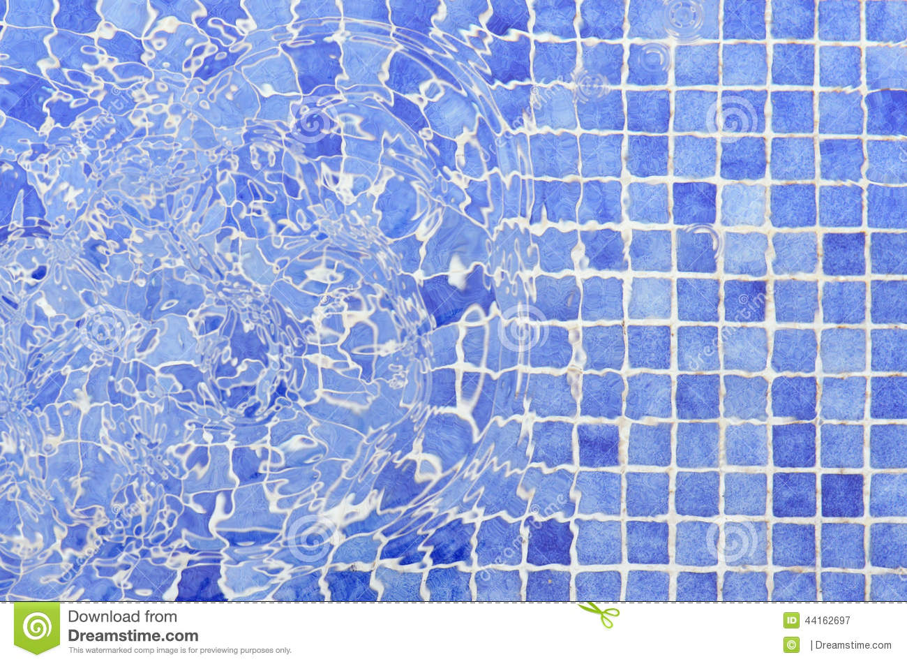 Tiles Mosaic Pool Tiles Water Stock Image Image Of