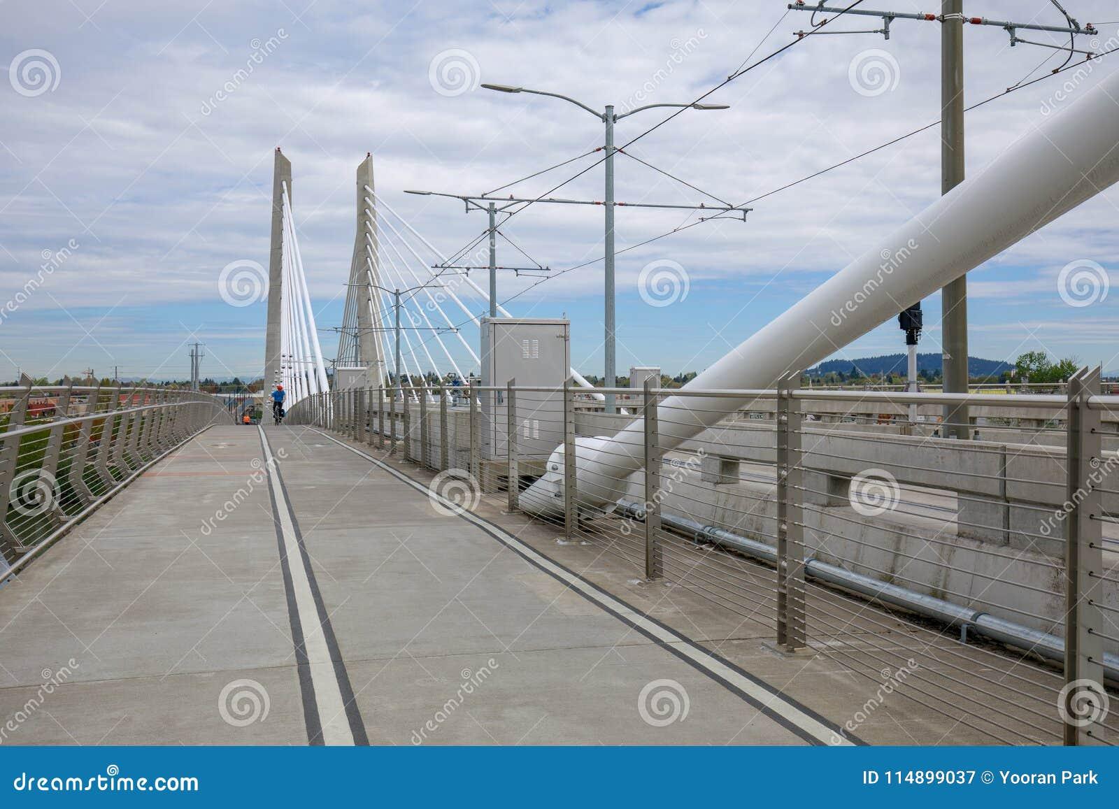 Tilikum横穿,桥梁风景在波特兰