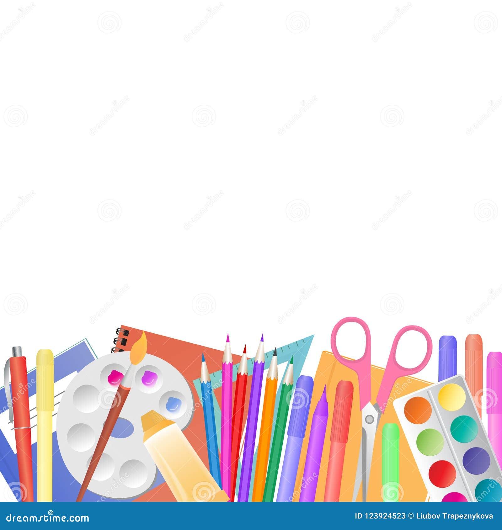 Tillbaka skola till Skolatillförsel för att undervisa och barn kreativitet för ` s