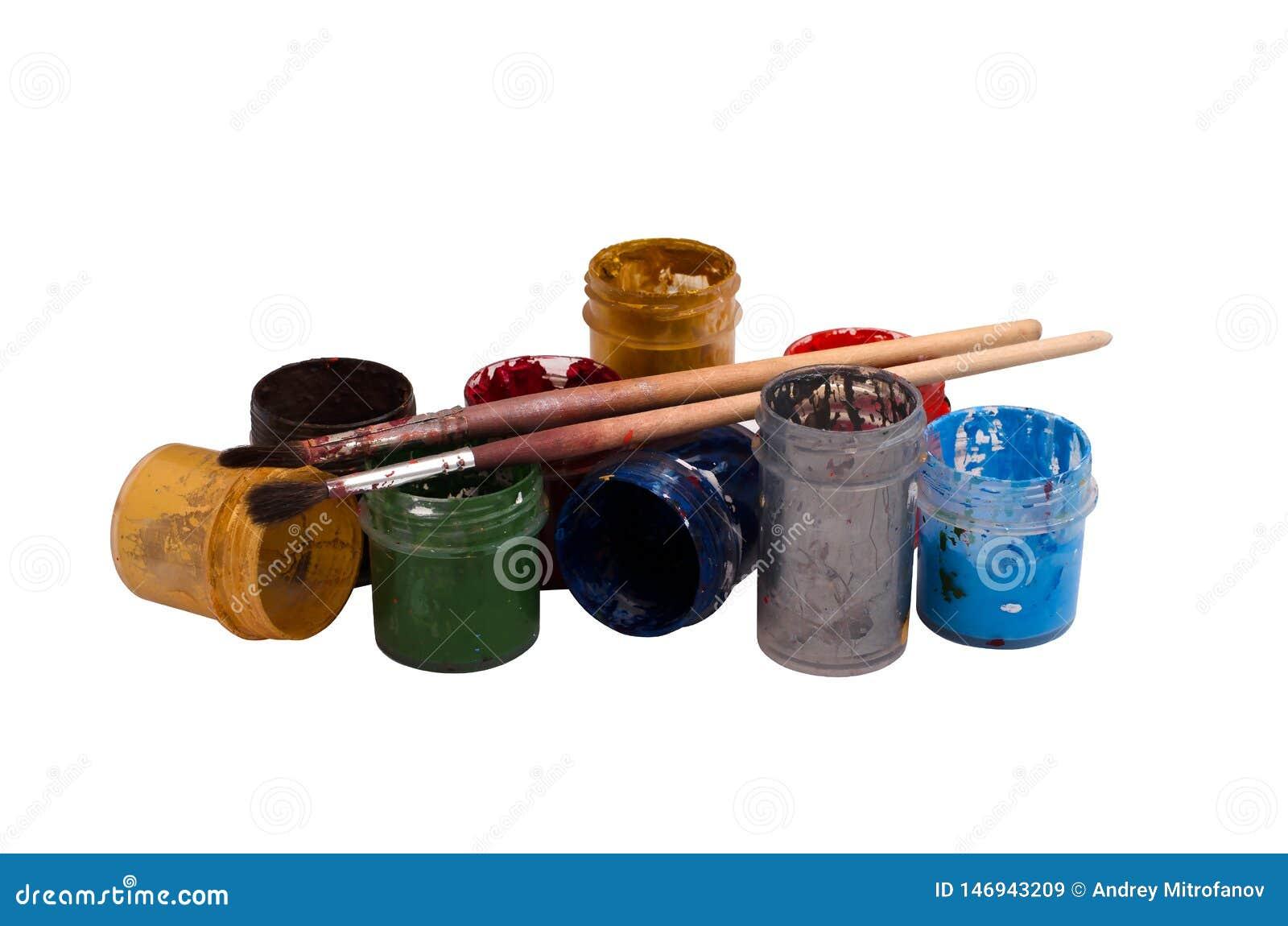 Tillbehörkonstnär Brushes, målarfärger