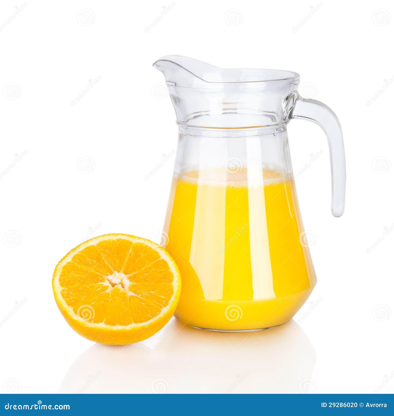 Tillbringare av orange fruktsaft och citrusfrukter