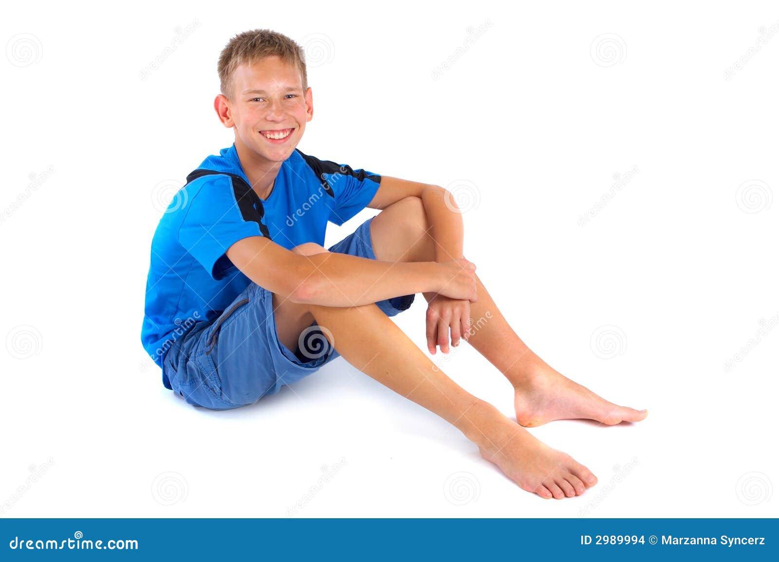 Tillfällig le white för pojke