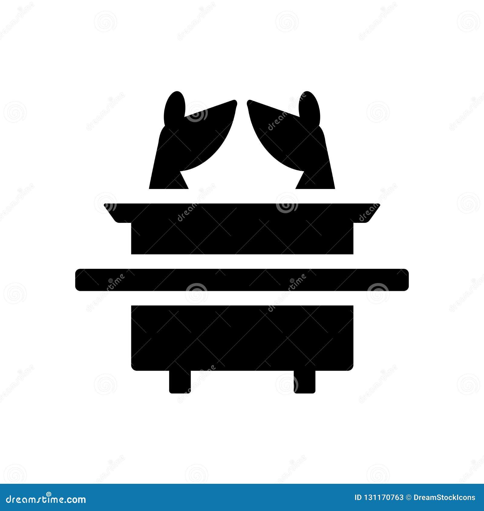 Tillflykt av överenskommelsesymbolen Moderiktig tillflykt av den conc överenskommelselogoen