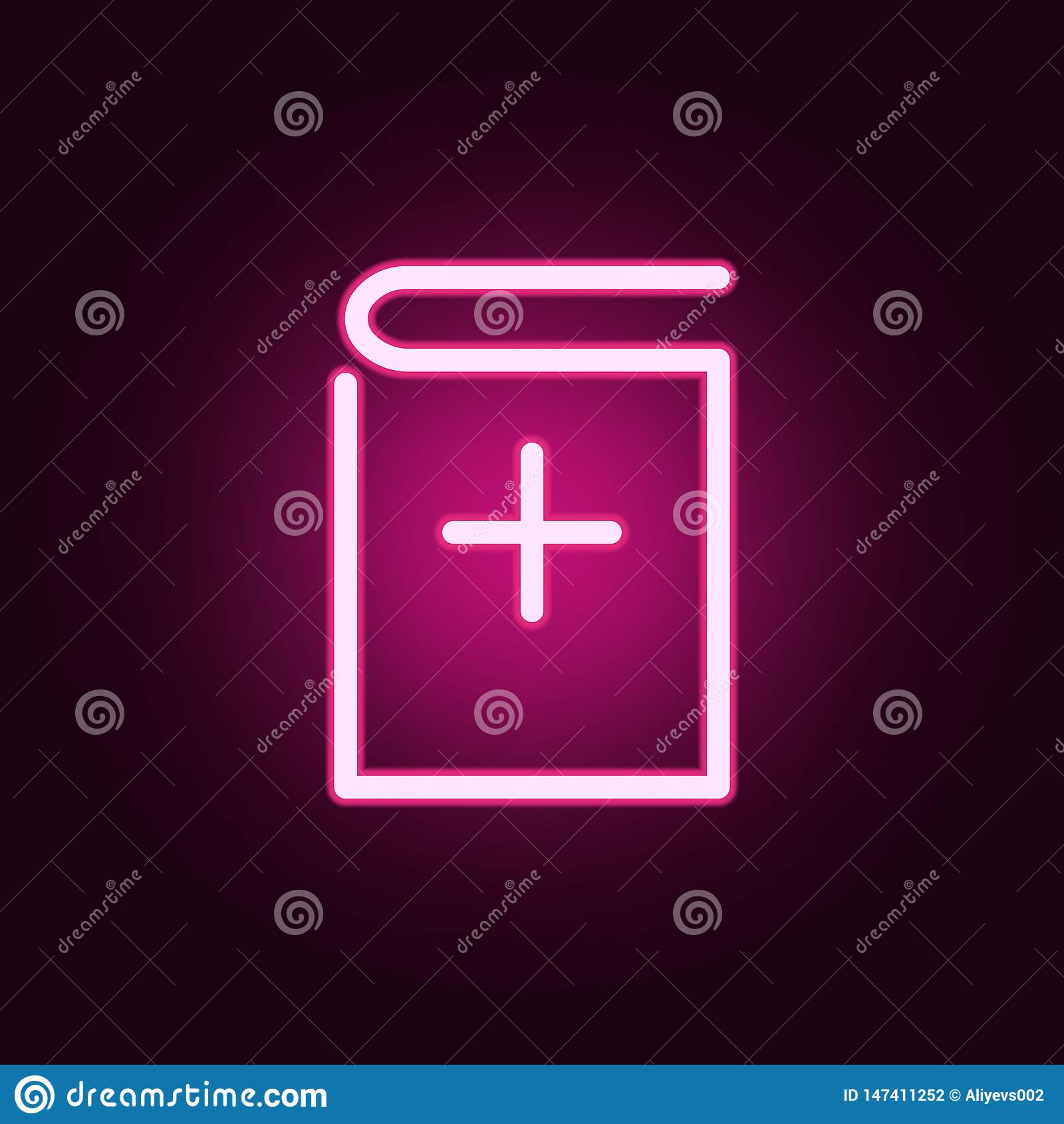 Tillfoga bokneonsymbolen Best?ndsdelar av utbildningsupps?ttningen Enkel symbol f?r websites, reng?ringsdukdesign, mobil app, inf