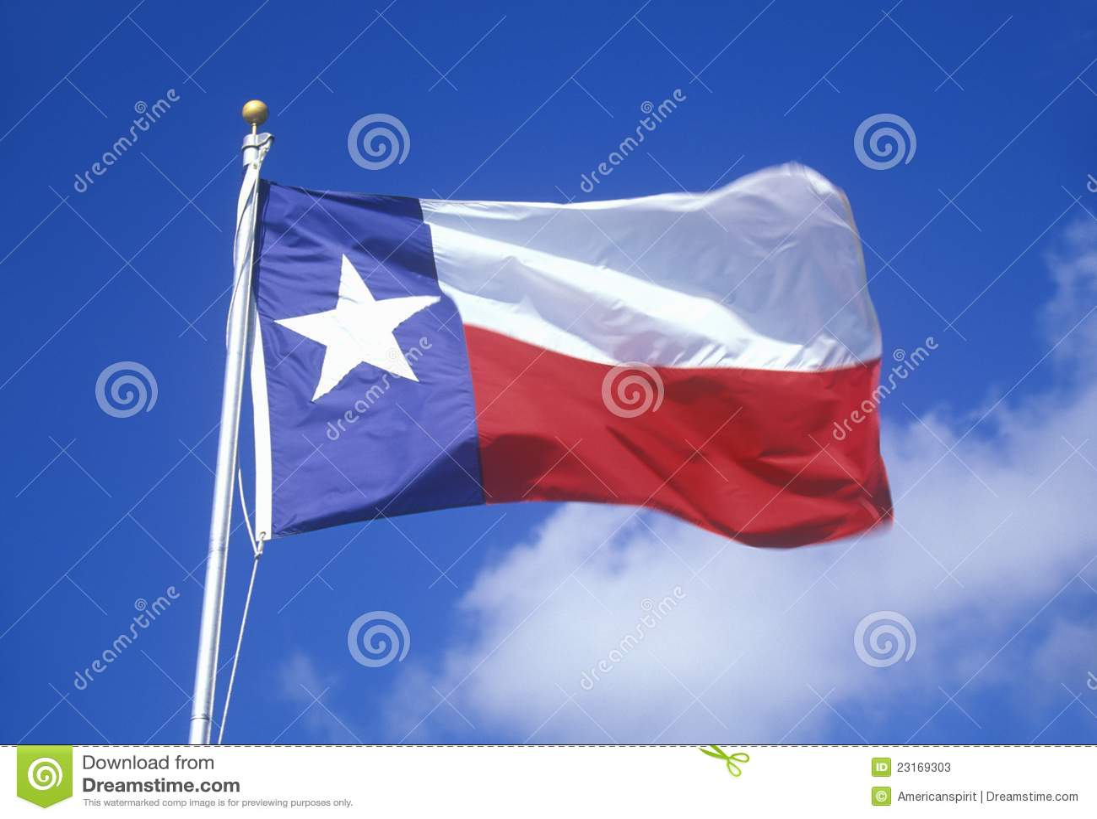 Tillståndsflagga av Texas