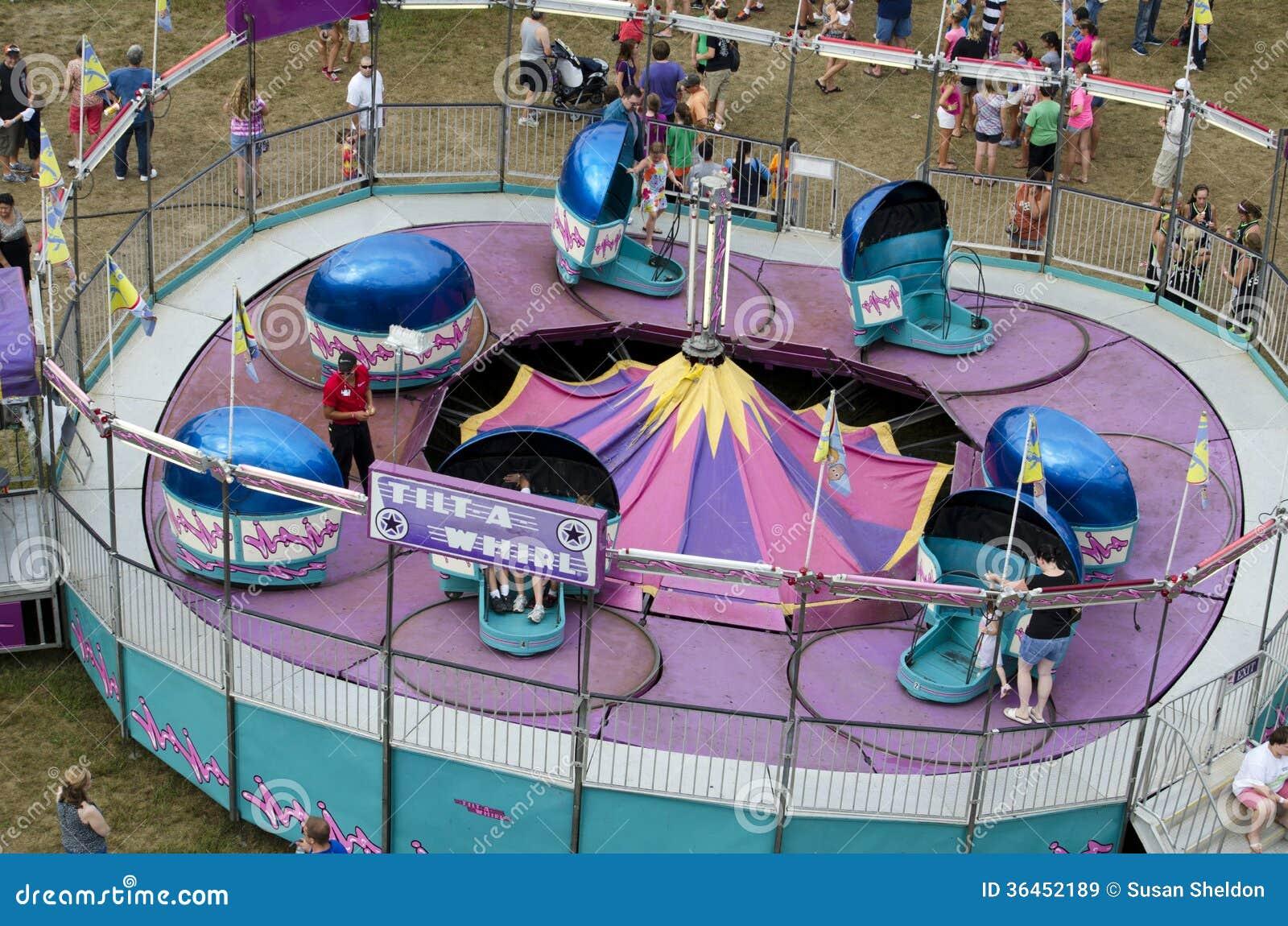 Tilt a whirl ride