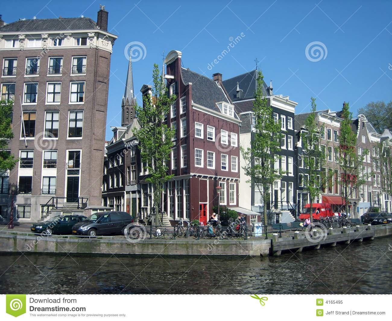 Tilted Town Houses In Amsterdam Stock Image Image Of