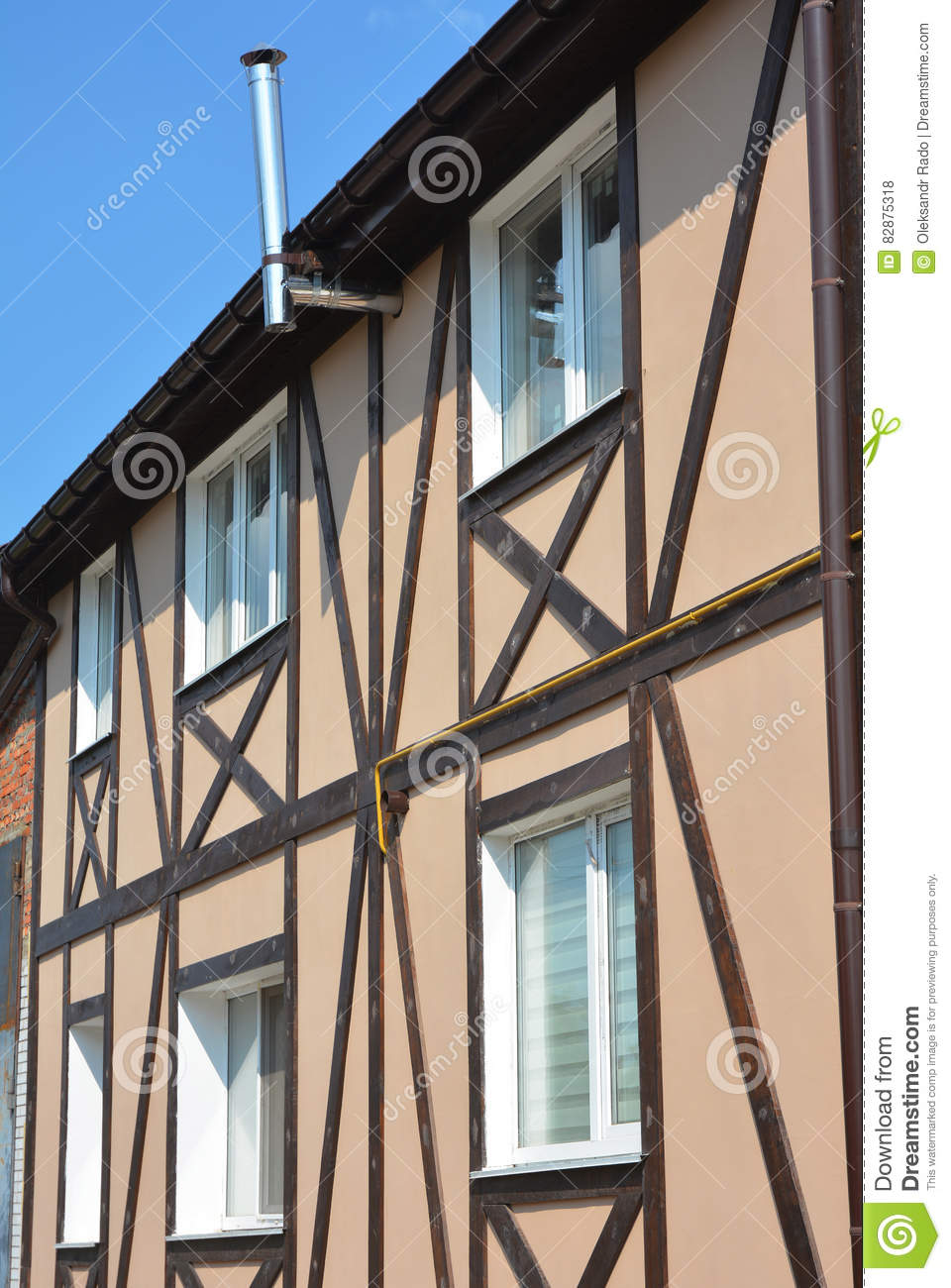 Timber-framed House Construction. Timber Framing And `post-and-beam ...