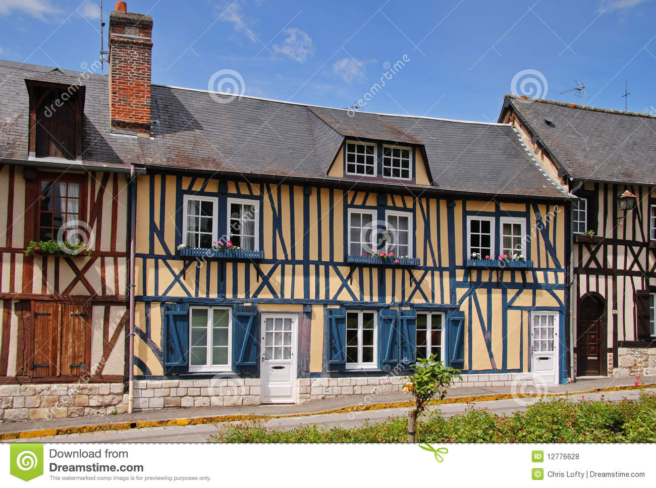 Timber Framed Normandy Houses Stock Photo Image Of Tourism French 12776628