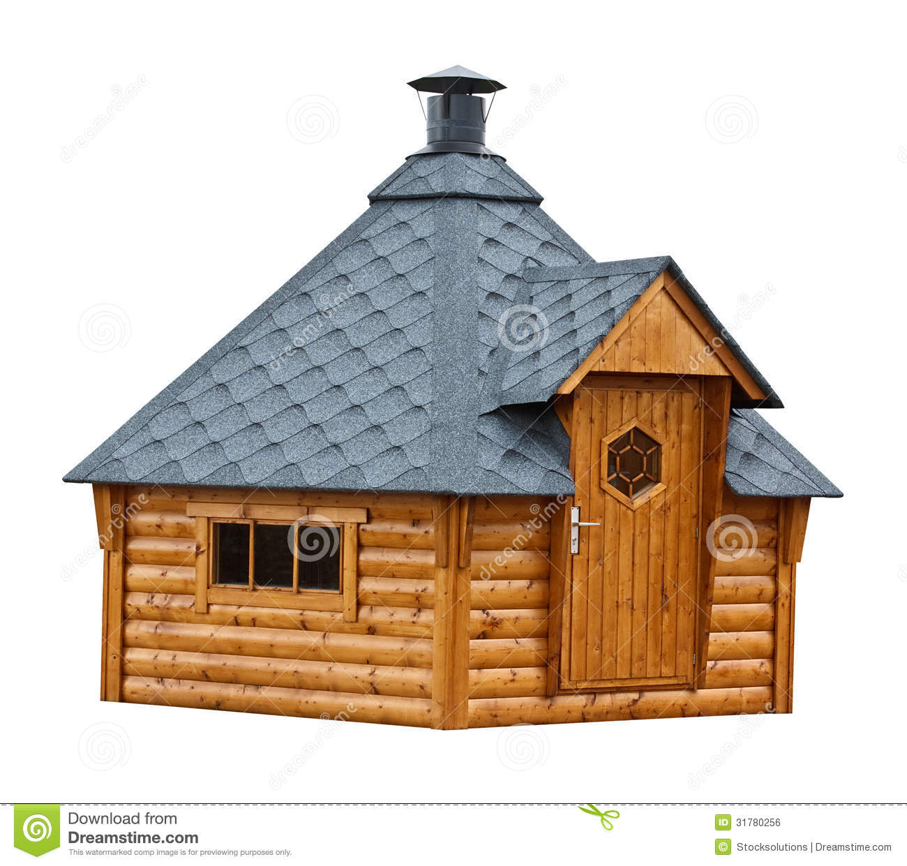 Timber Garden Sauna Building Royalty Free Stock Image