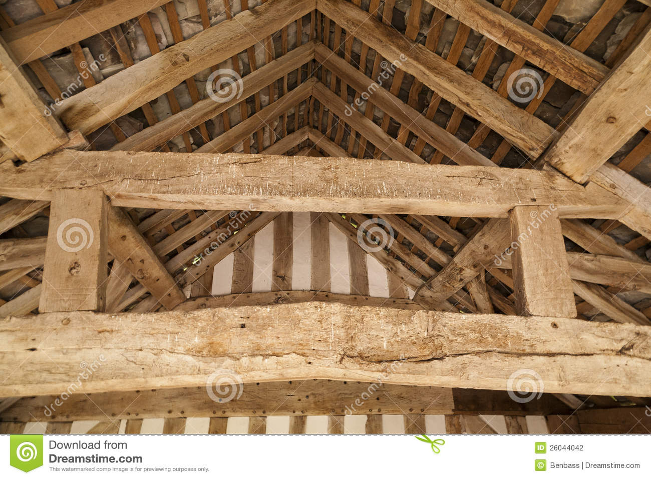Timber Roof Supports Stock Photo Image Of Hand Century