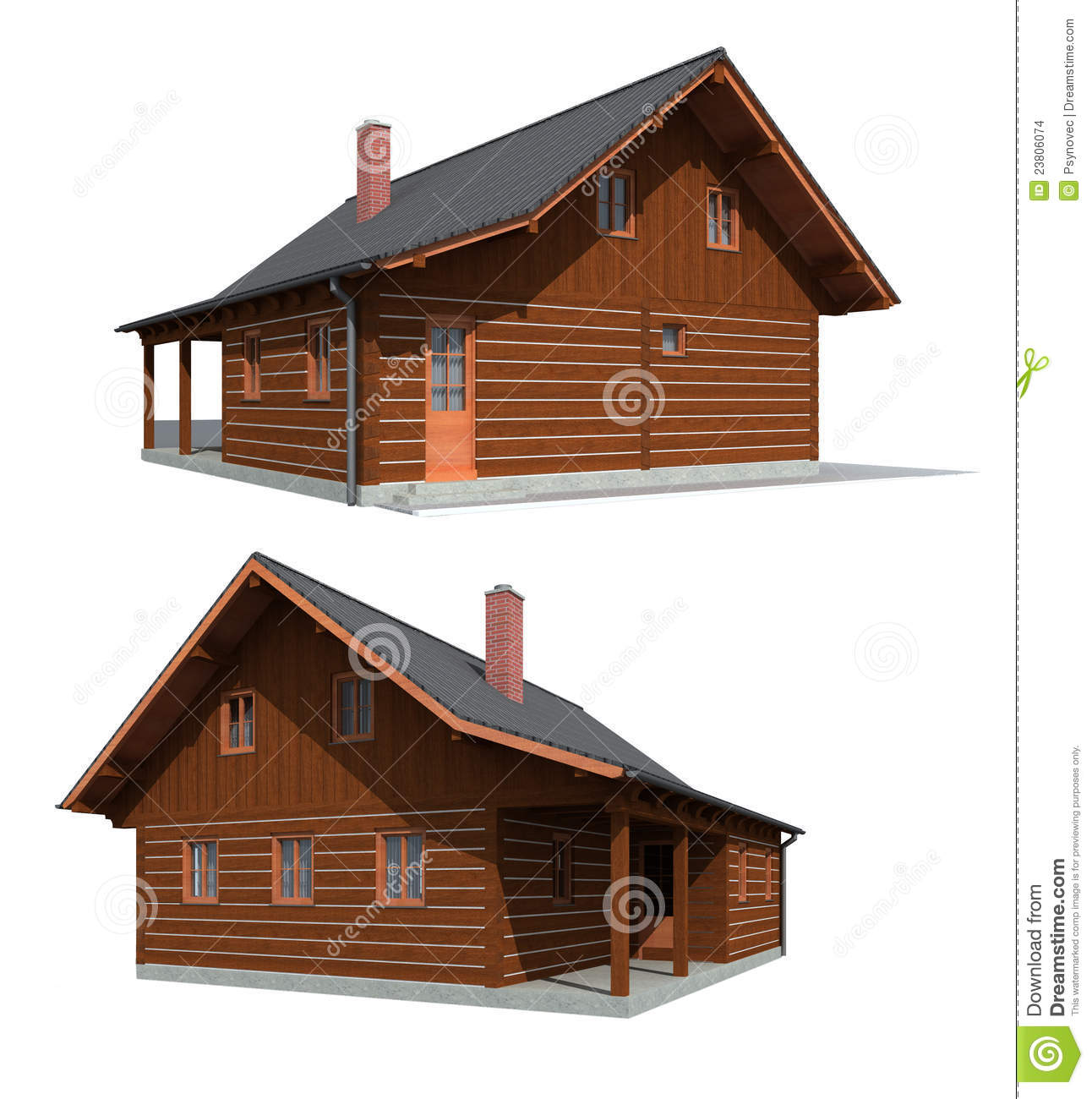 Timber Wood House Stock Images Image 23806074