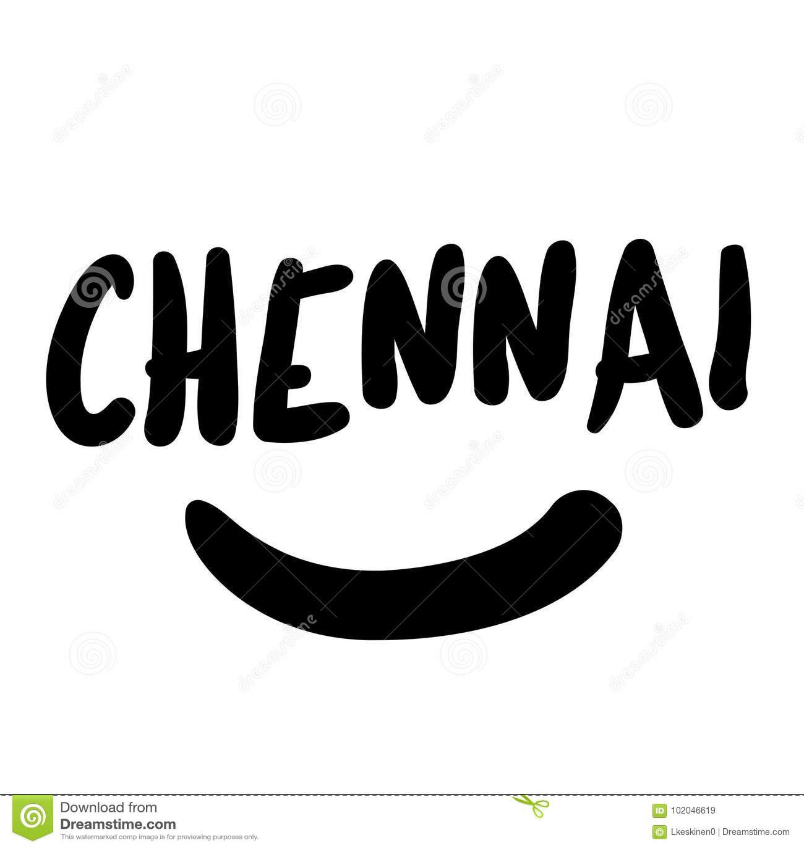 Timbre d autocollant de Chennai