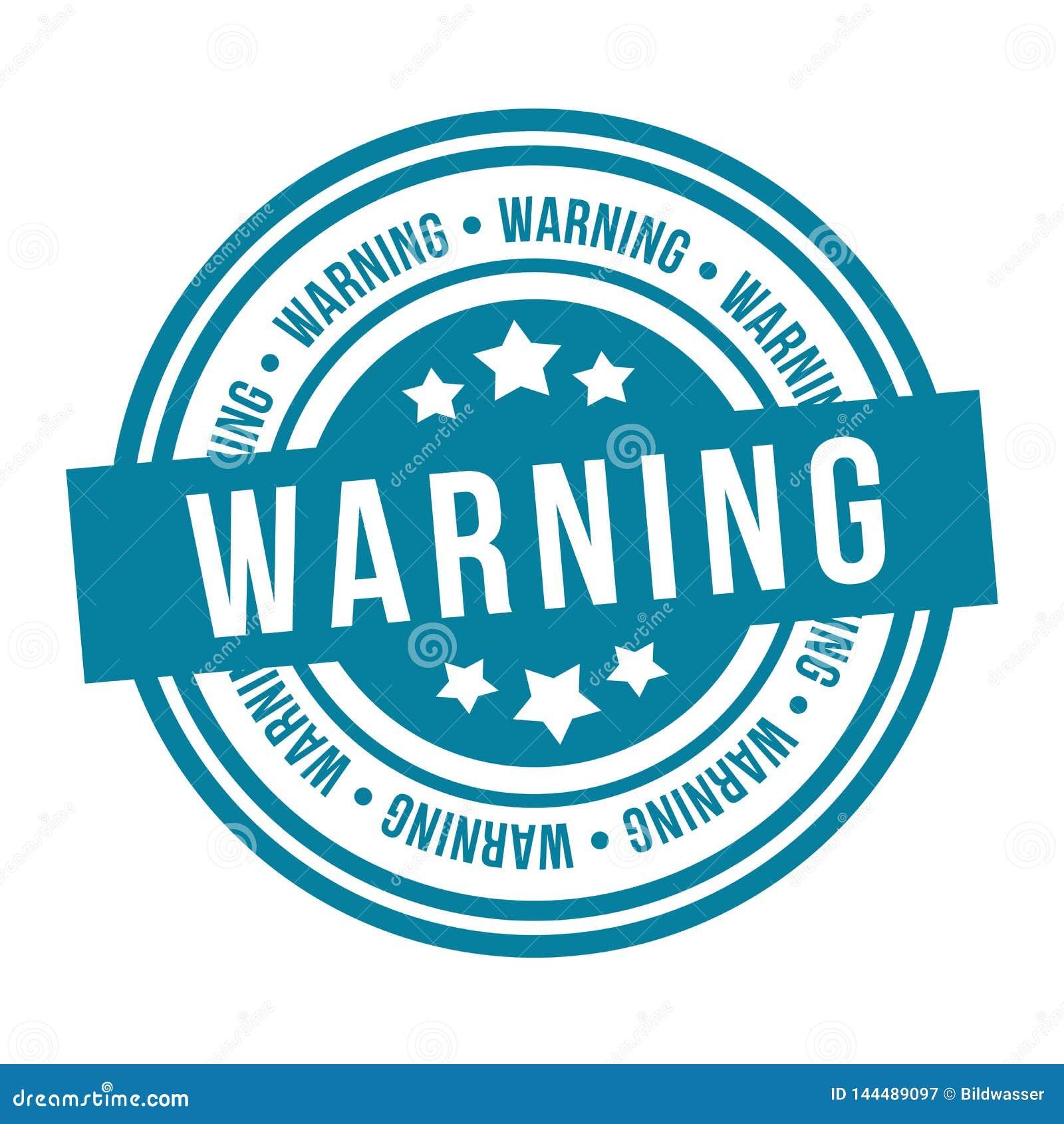 Timbre d avertissement Insigne du vecteur Eps10
