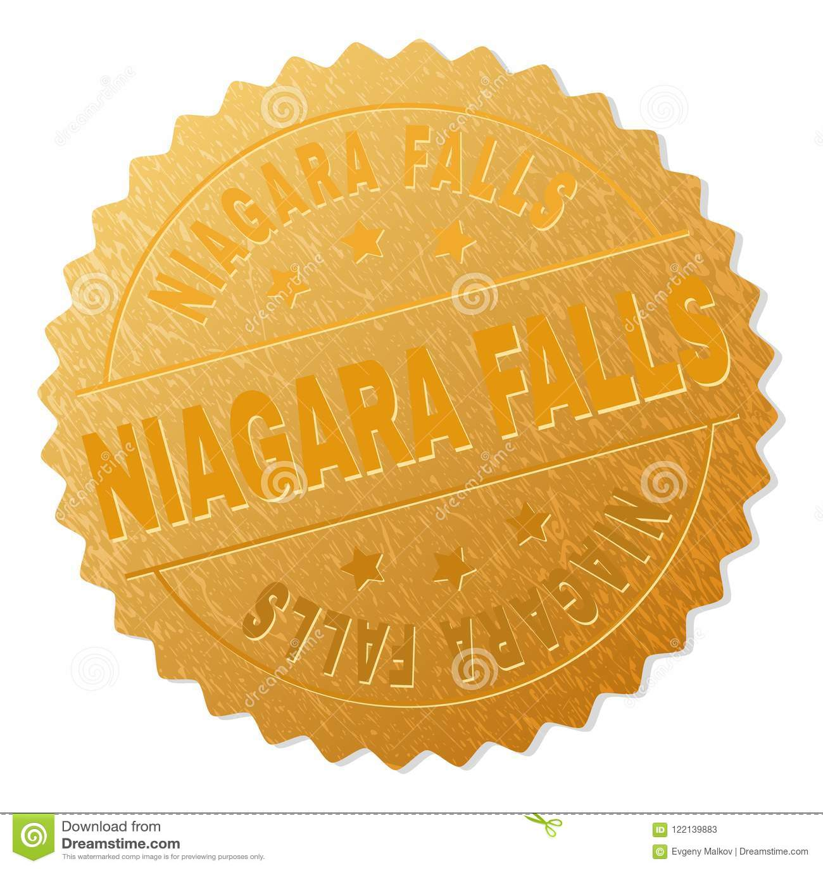 Timbre d or d insigne de CHUTES DU NIAGARA