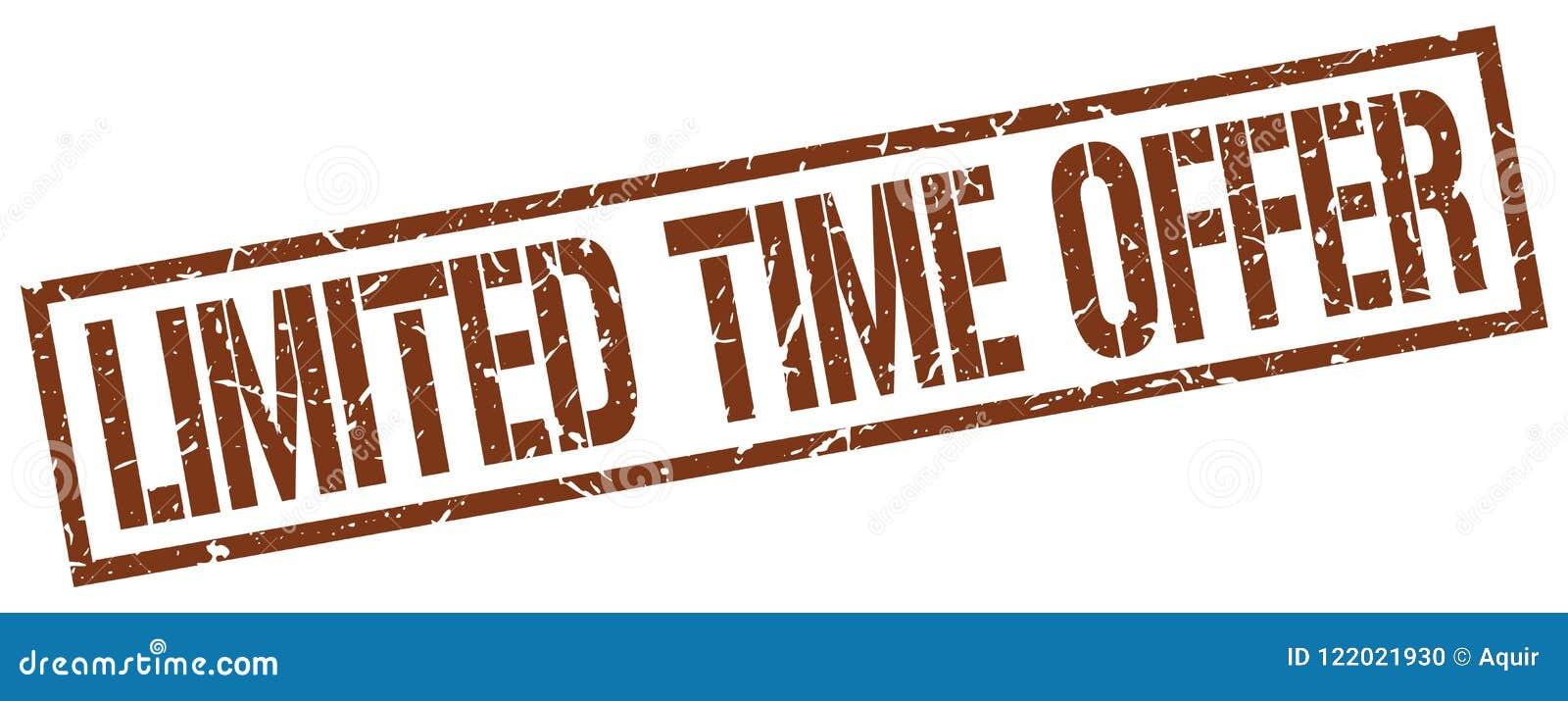 Timbre d offre de temps limité